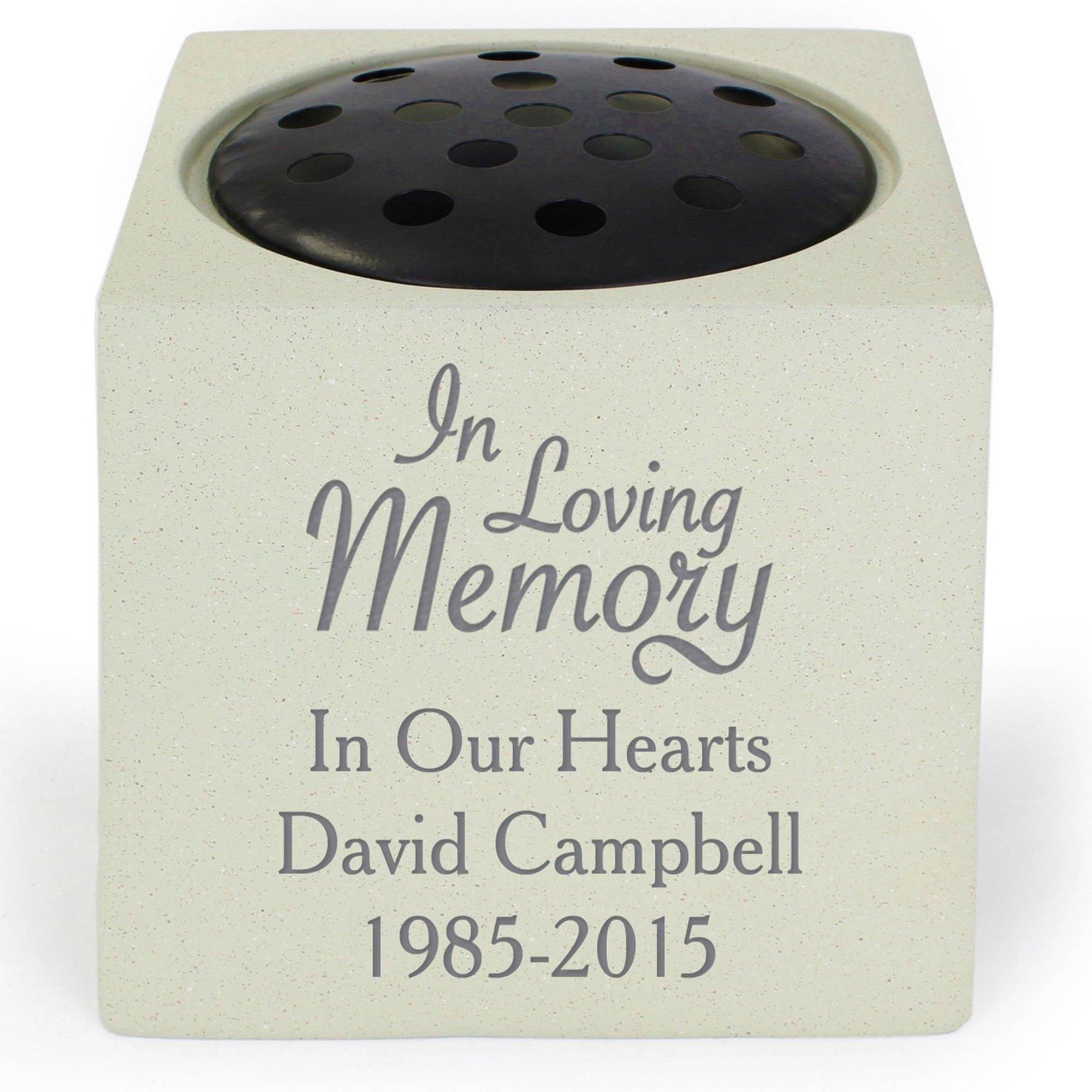 Image of Personalised In Loving Memory Memorial Vase