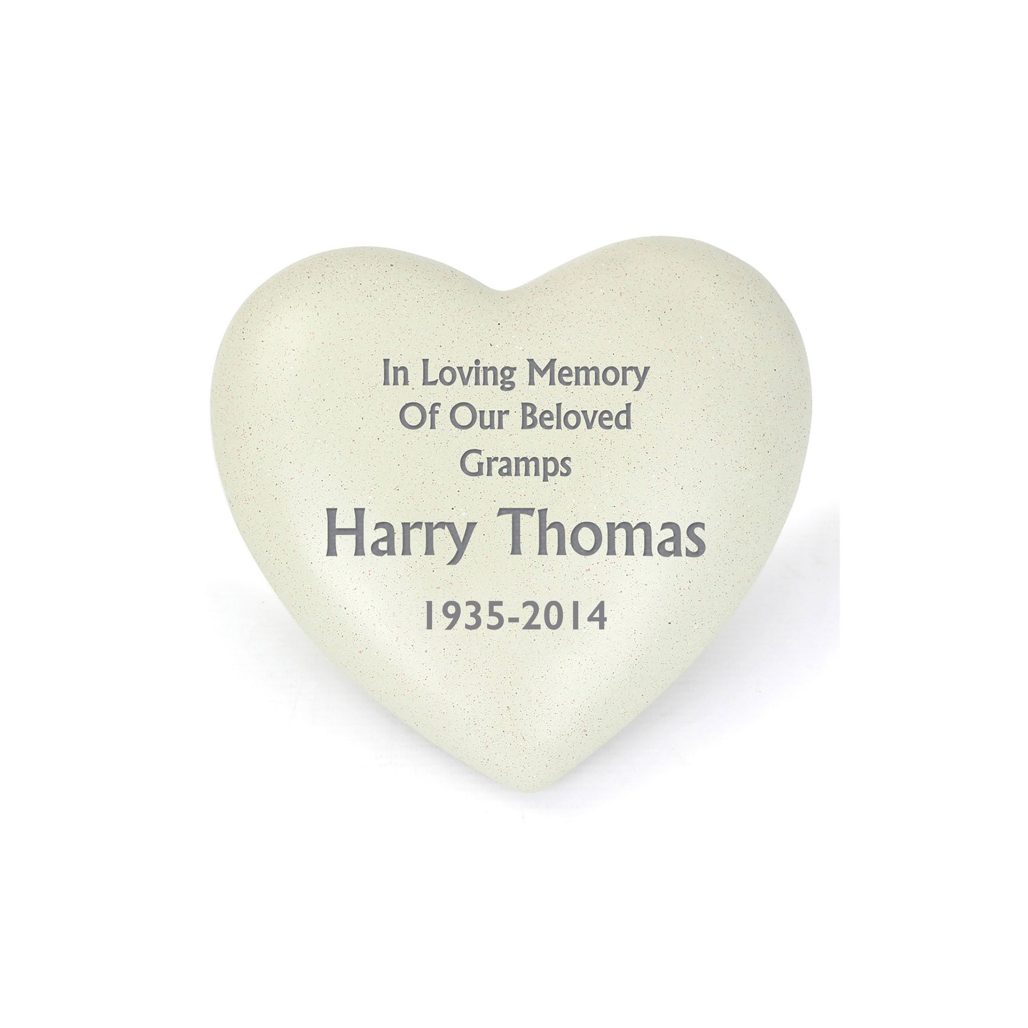 Image of Personalised Heart Memorial Plaque