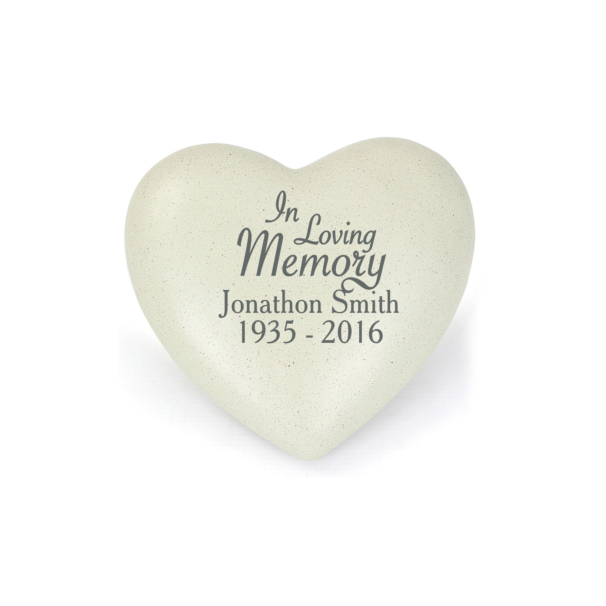 Image of Personalised In Loving Memory Heart Memorial Plaque