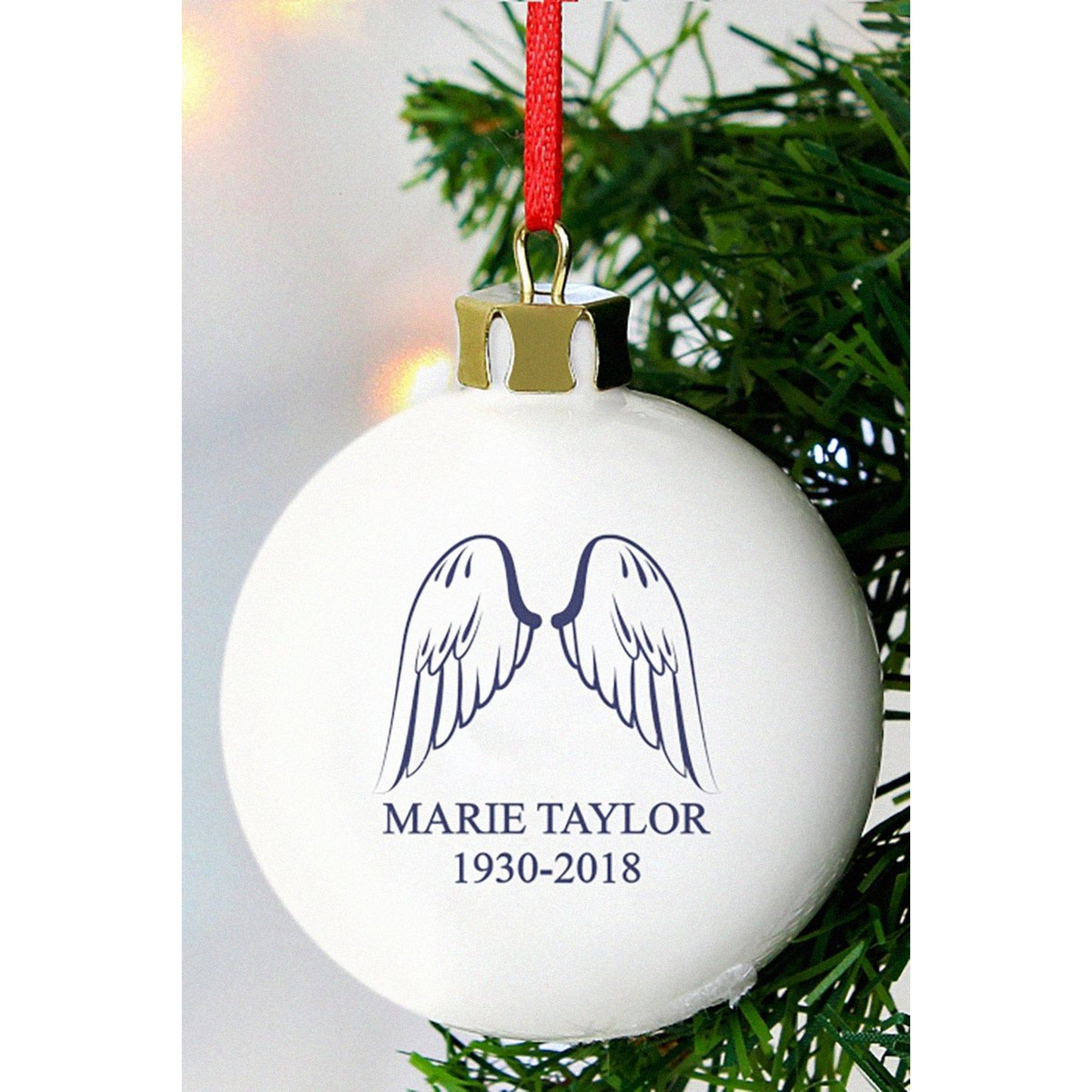 Image of Personalised Angel Wings Bauble
