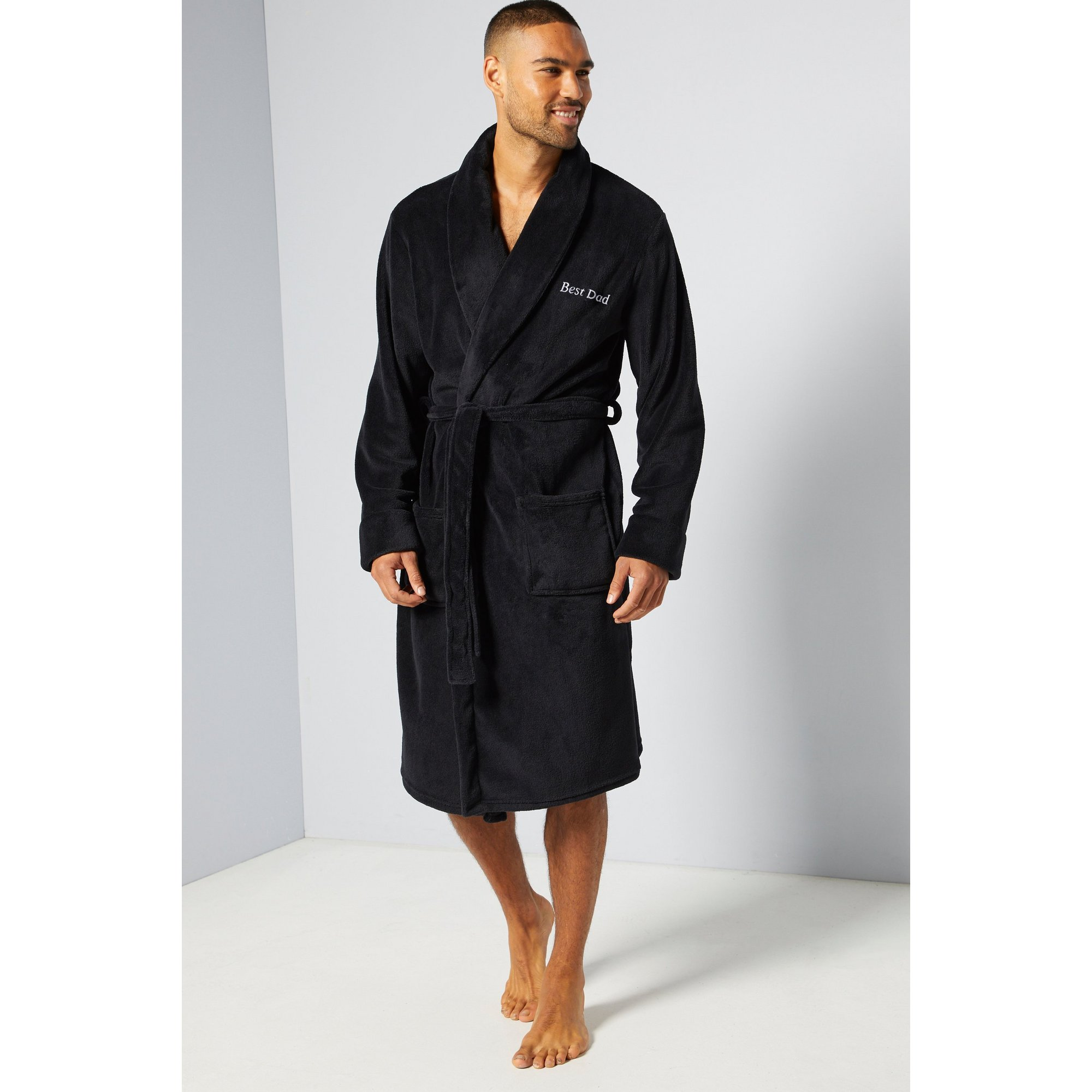 Image of Embroidered Personalised Mens Robe