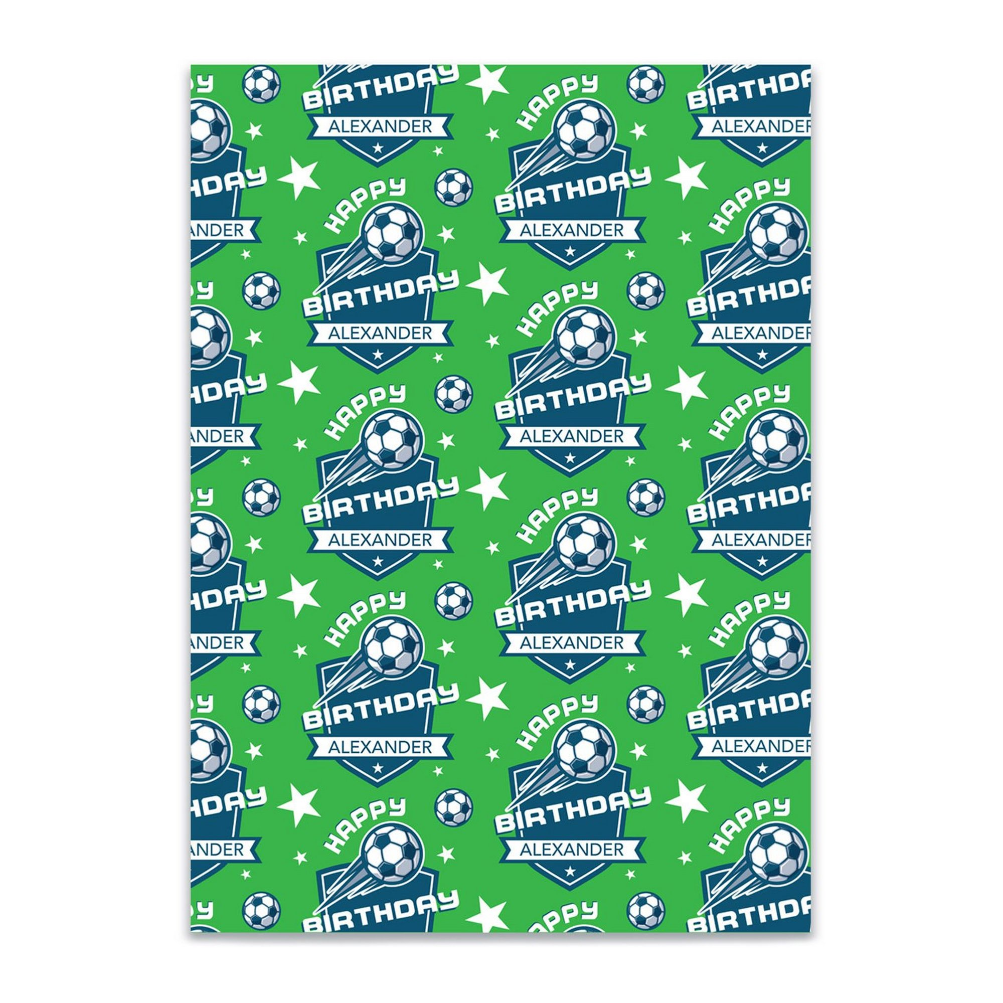 Image of Personalised Football Gift Wrap