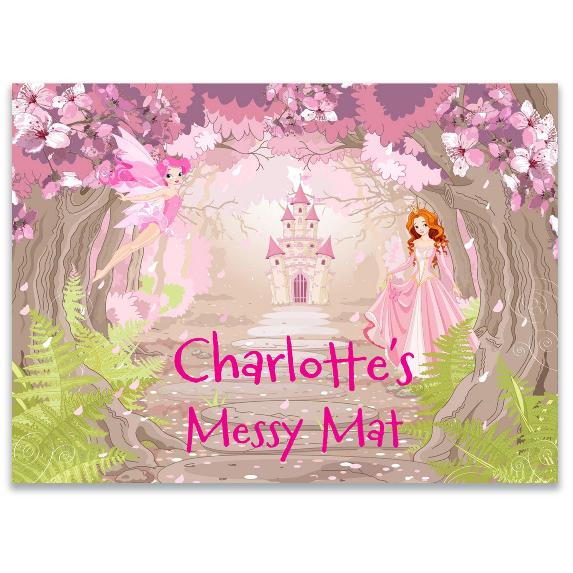 Image of Personalised Enchanted Princess Messy Play Mat