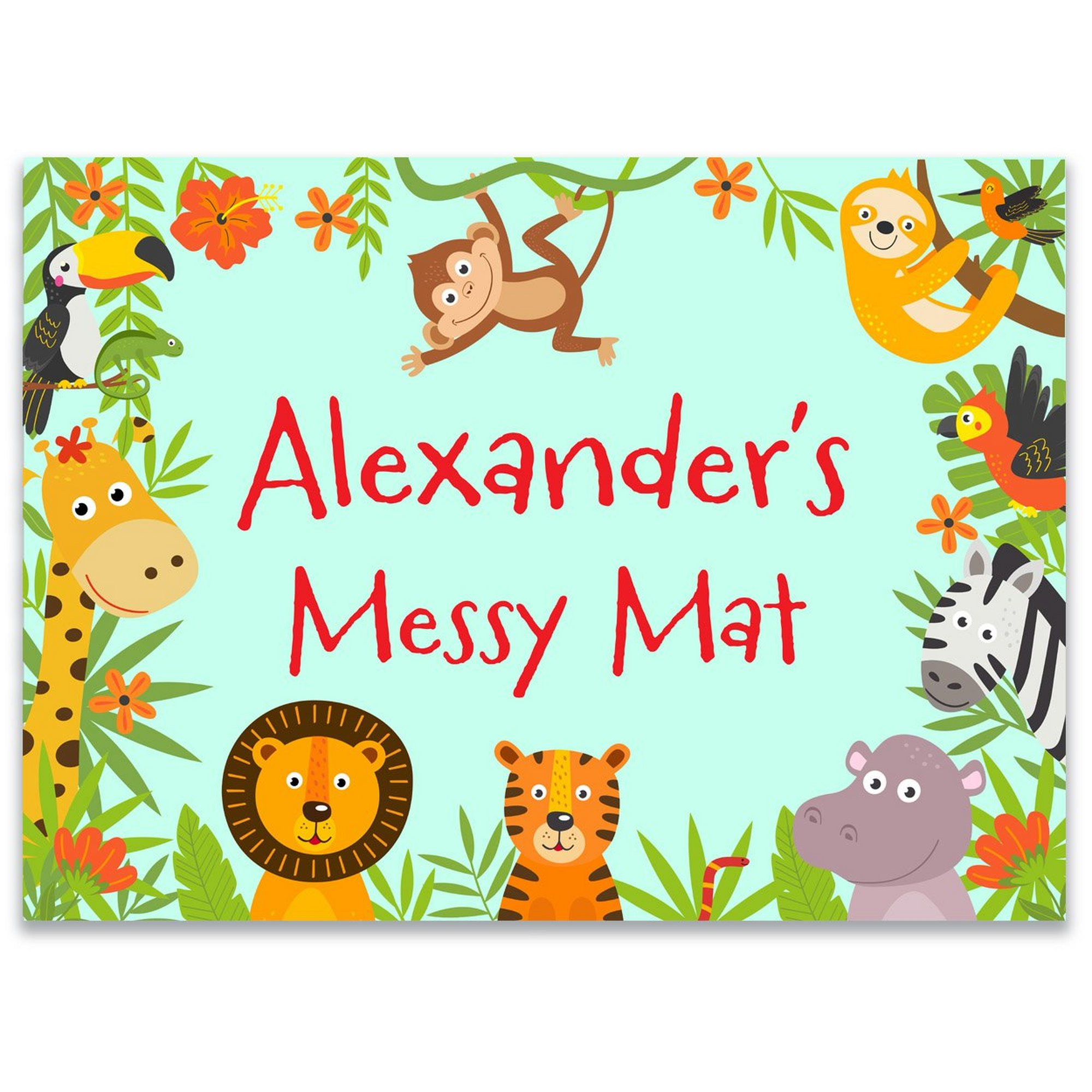 Image of Personalised Jungle Messy Play Mat