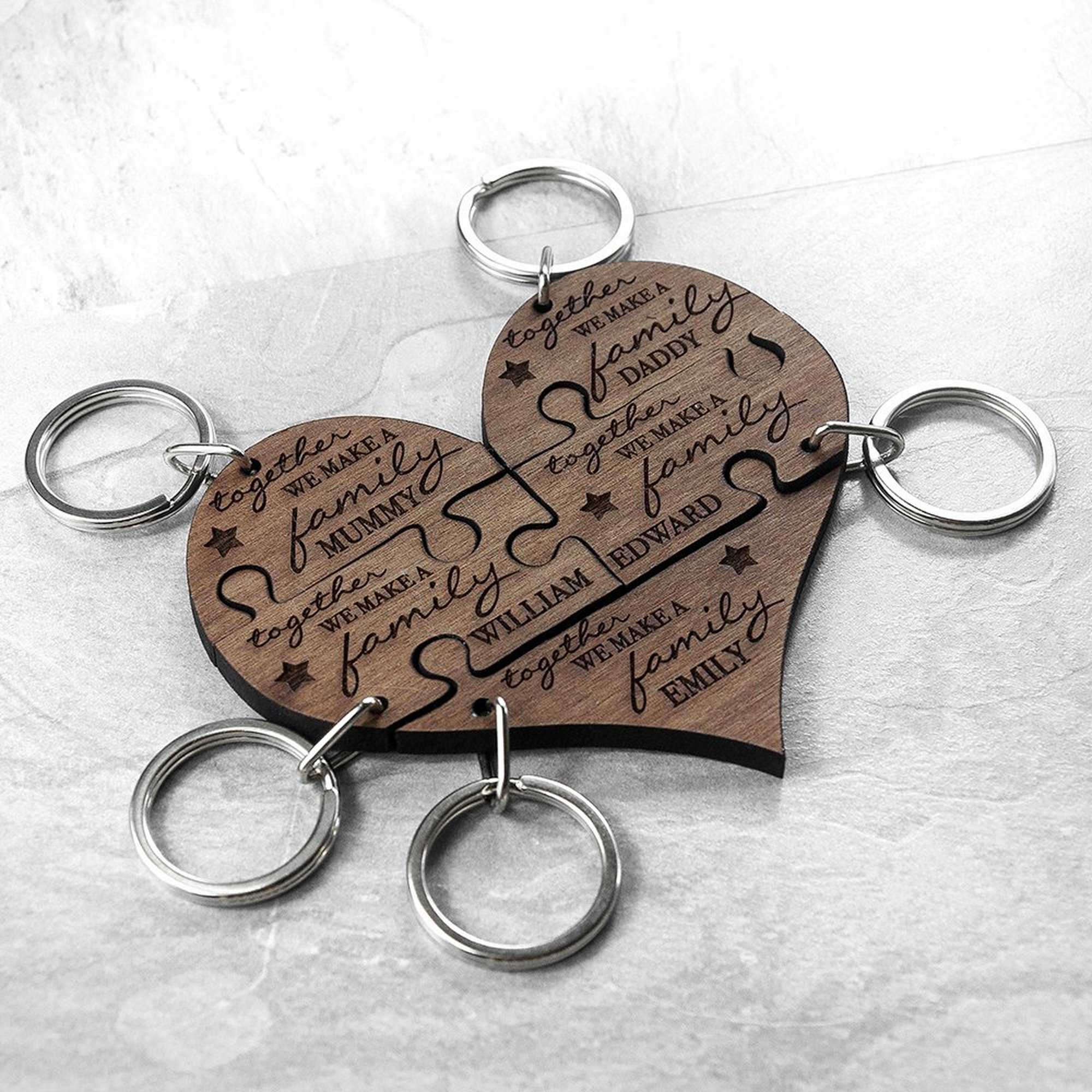 Image of Personalised Family Together Keyring