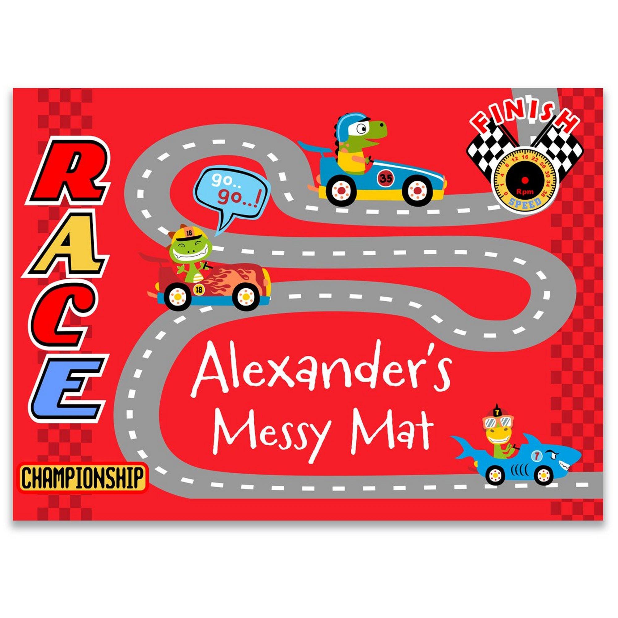 Image of Personalised Racing Cars Play Mat