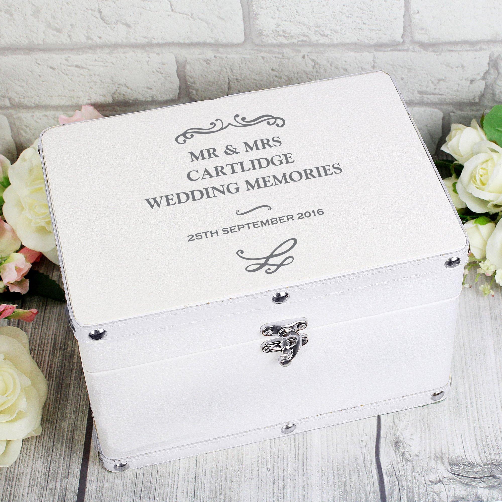 Image of Personalised Antique Scroll Leatherette Keepsake Box