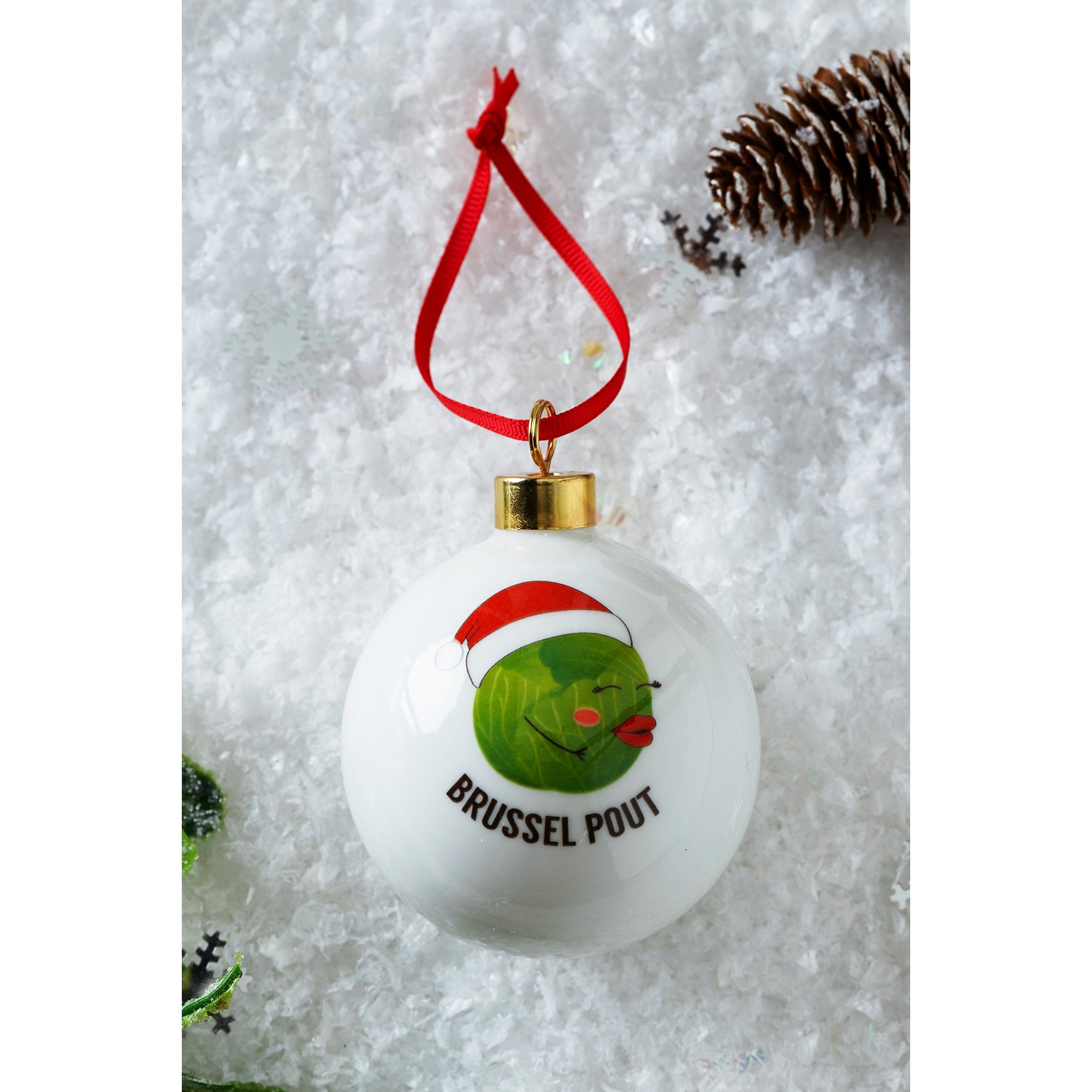 Image of Personalised Brussel Pout Sprout Bauble
