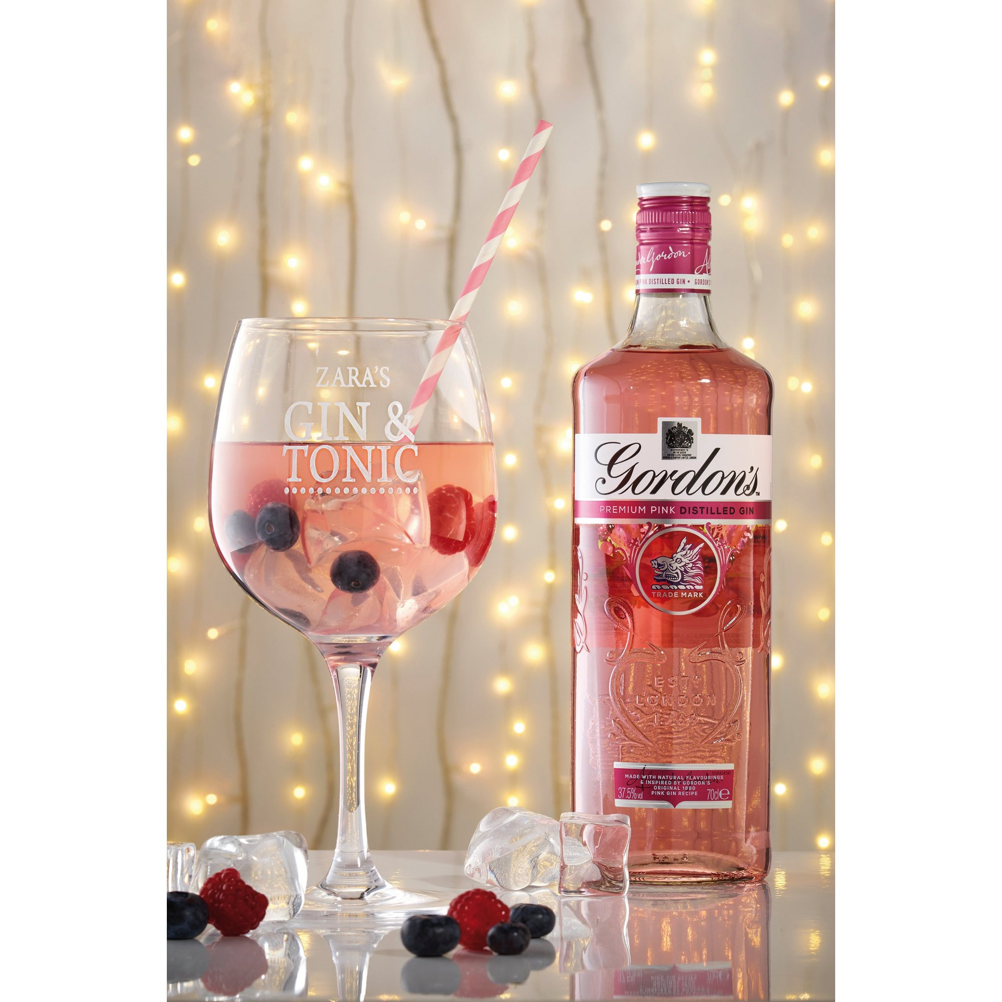 Image of Personalised Gordons Pink Gin Set