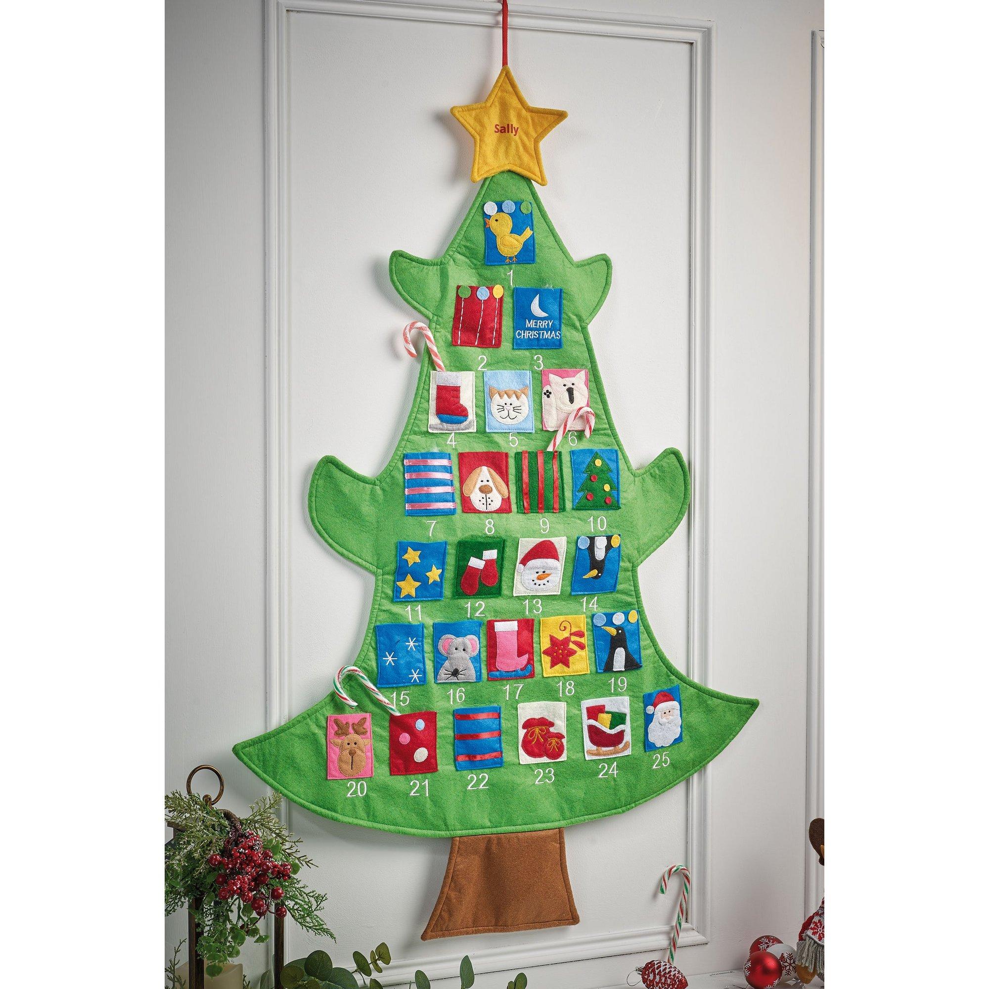 Image of Personalised Christmas Tree Advent Calendar
