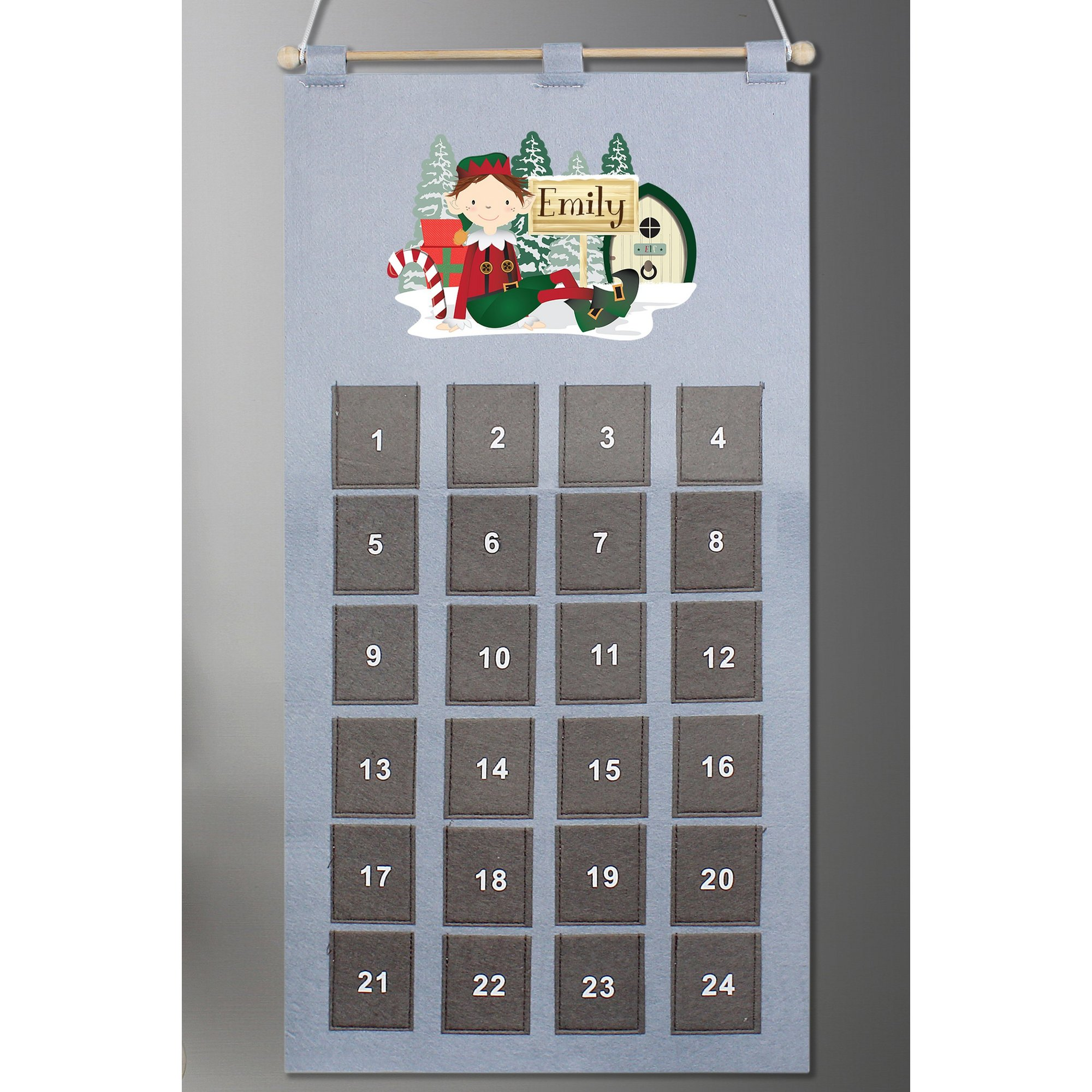 Image of Personalised Elf Advent Calendar
