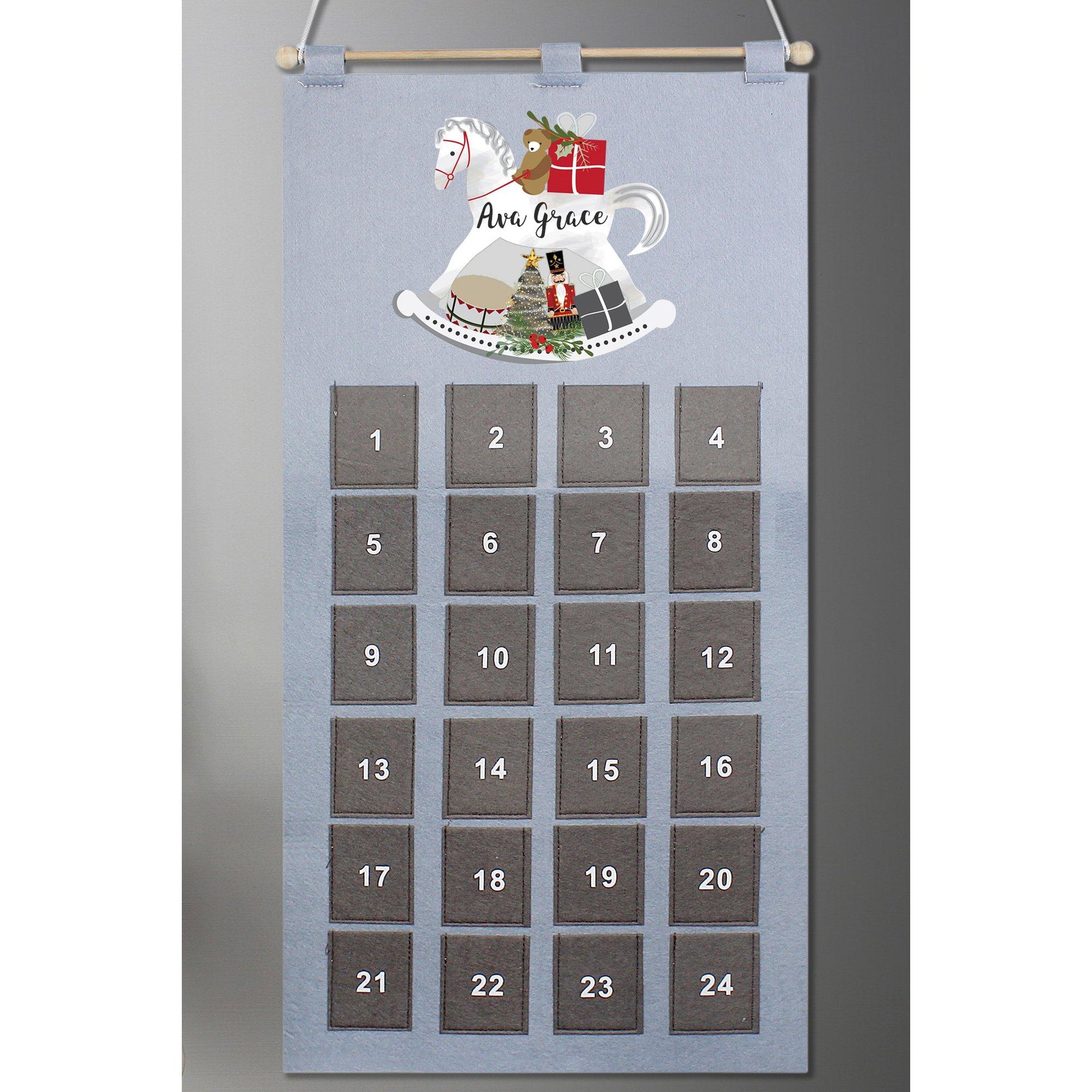 Image of Personalised Rocking Horse Advent Calendar