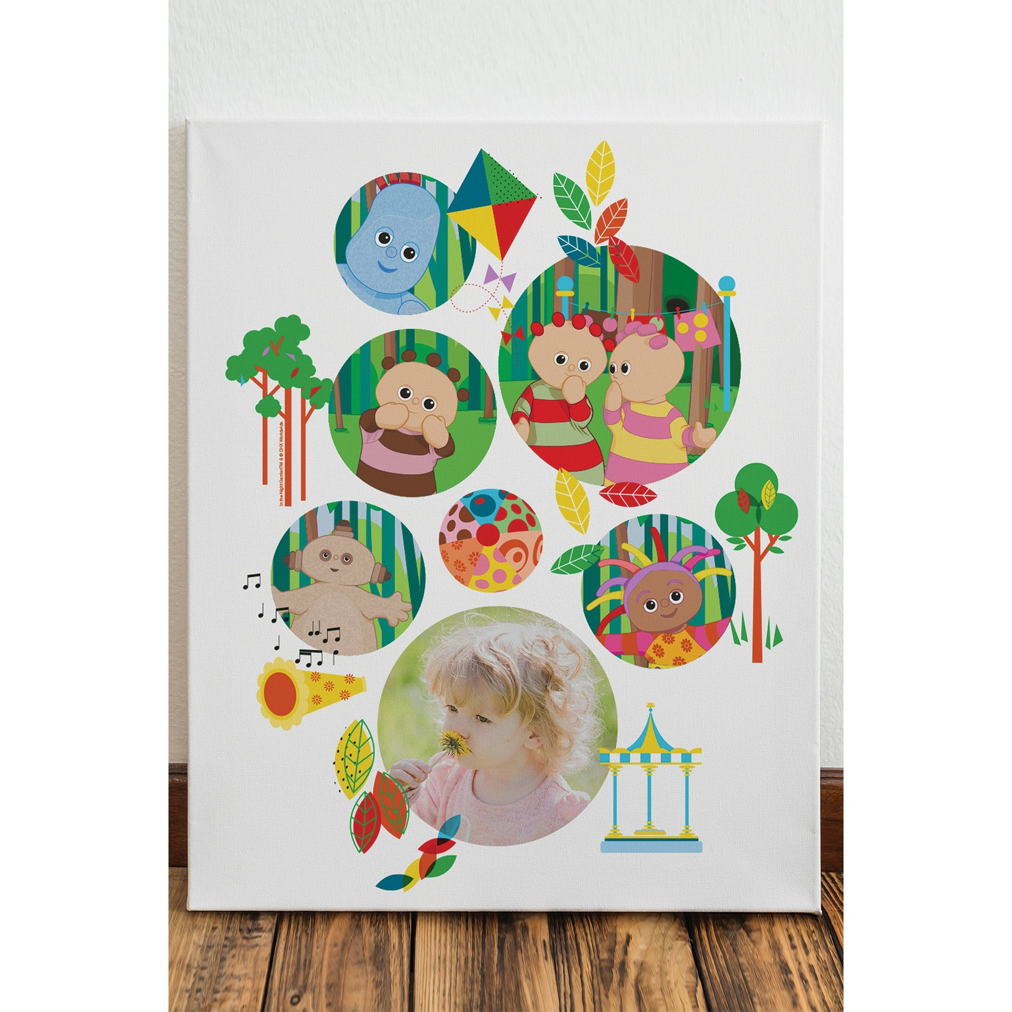 Image of In The Night Garden Bubble Photo Canvas