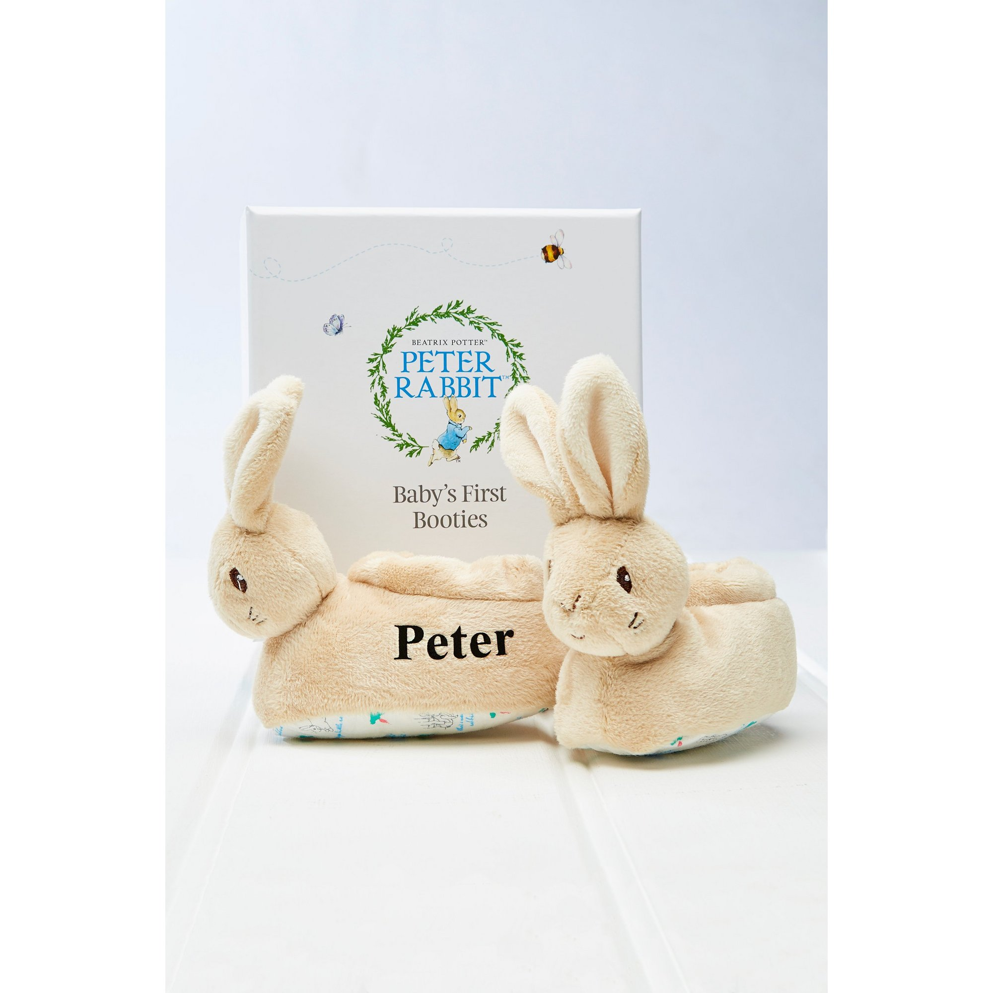 Image of Personalised Peter Rabbit Babys First Booties