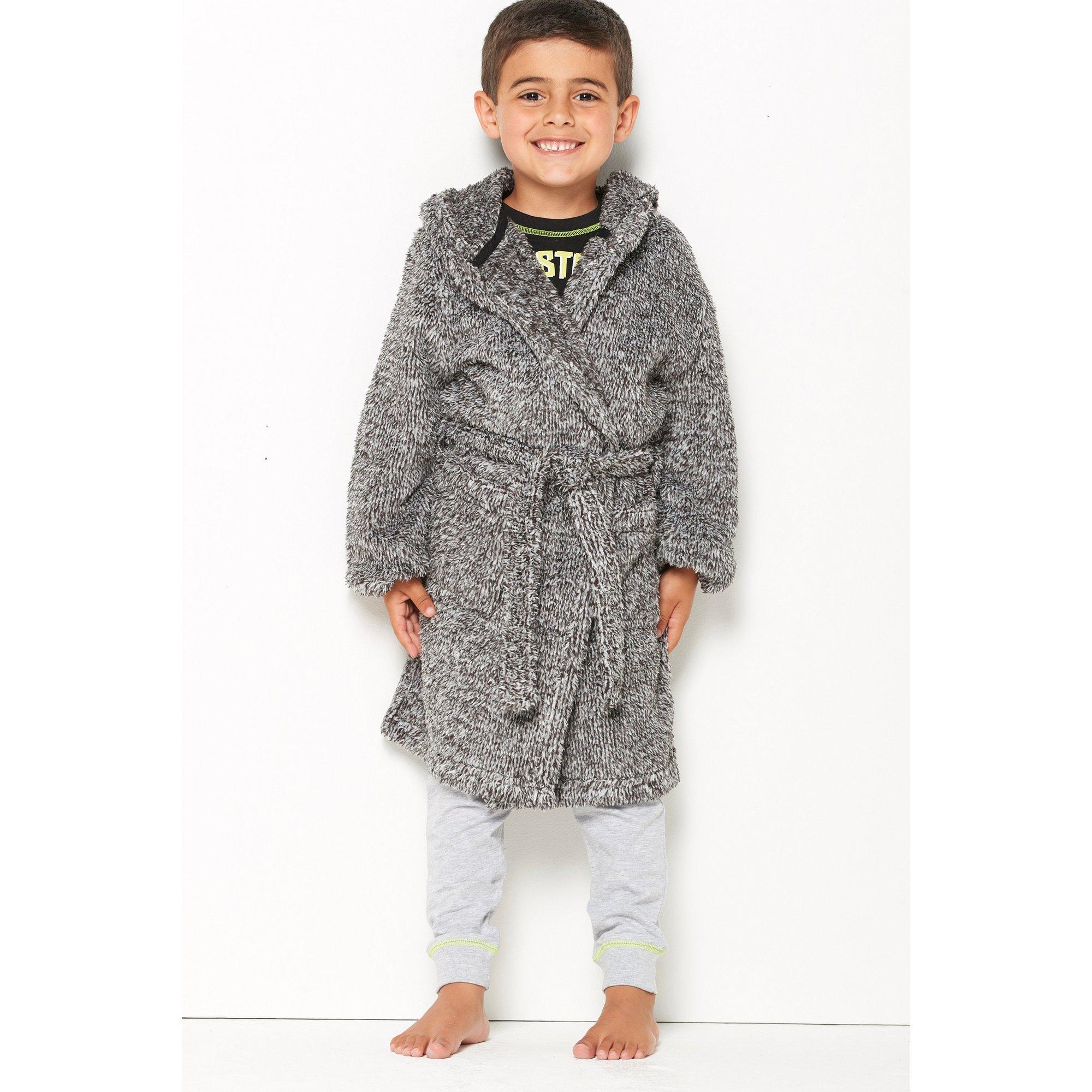 Image of Boys Personalised Grey Robe