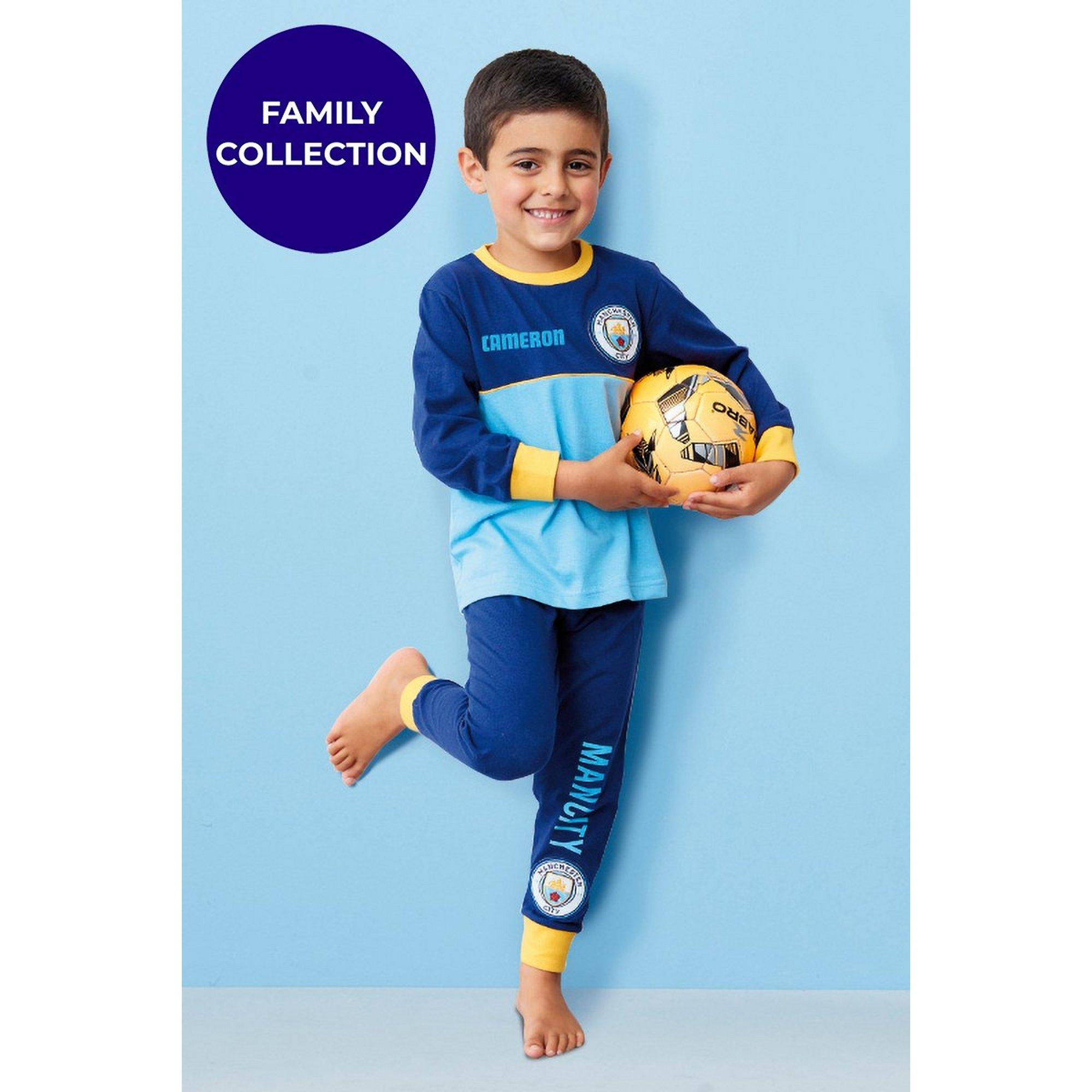 Image of Boys Personalised Manchester City Pyjamas