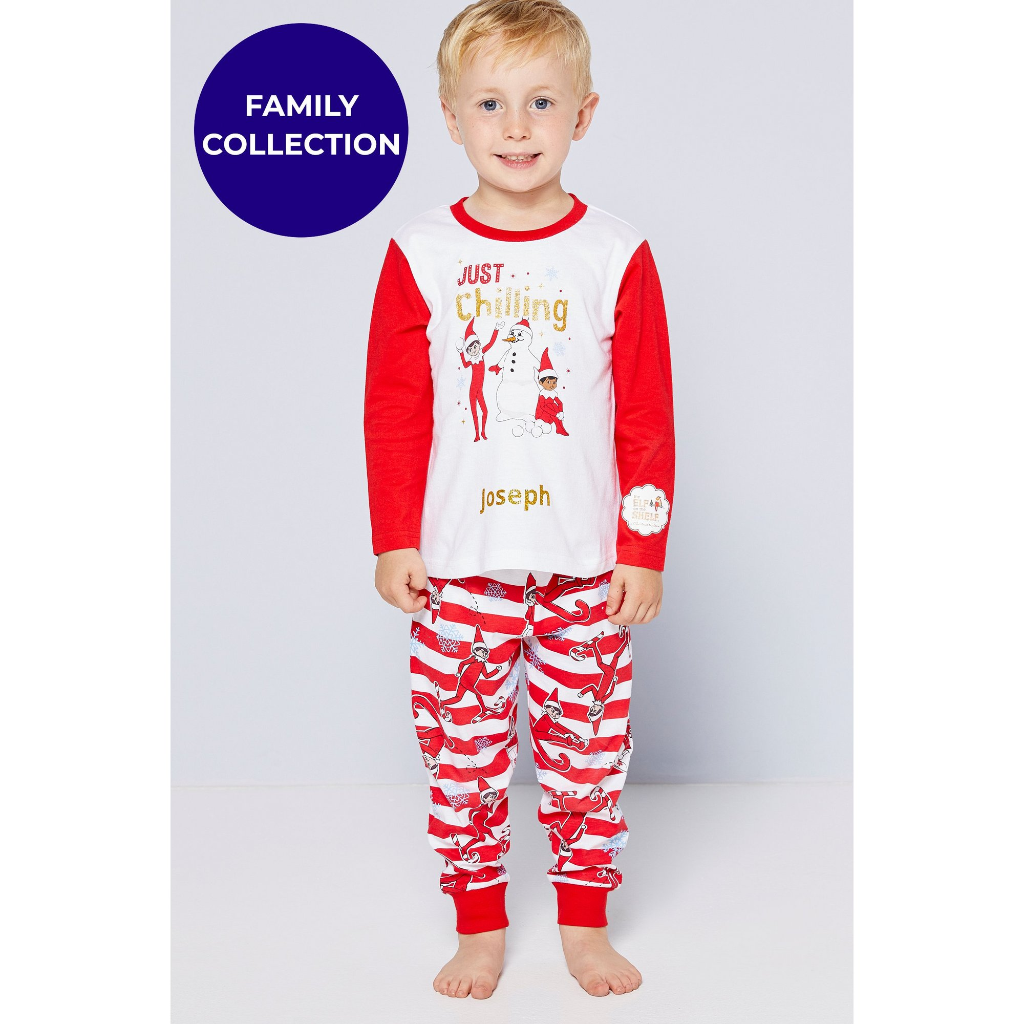 Image of Boys Family Elf On The Shelf Personalised Pyjamas