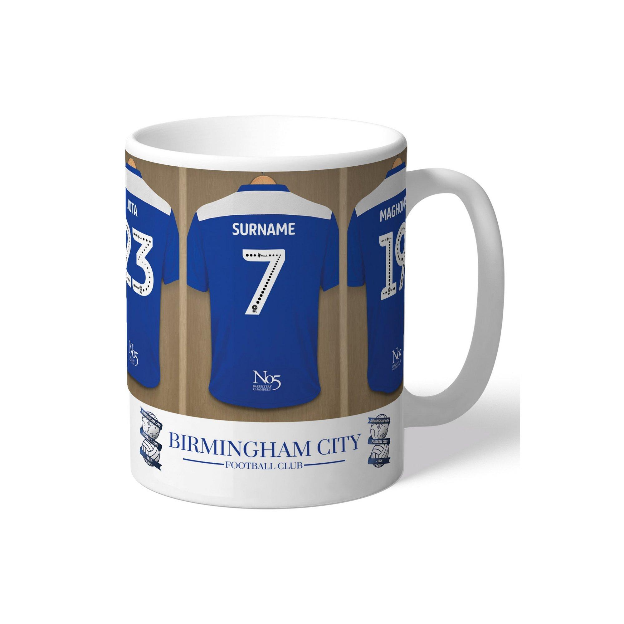 Image of Personalised Birmingham City FC Dressing Room Mug