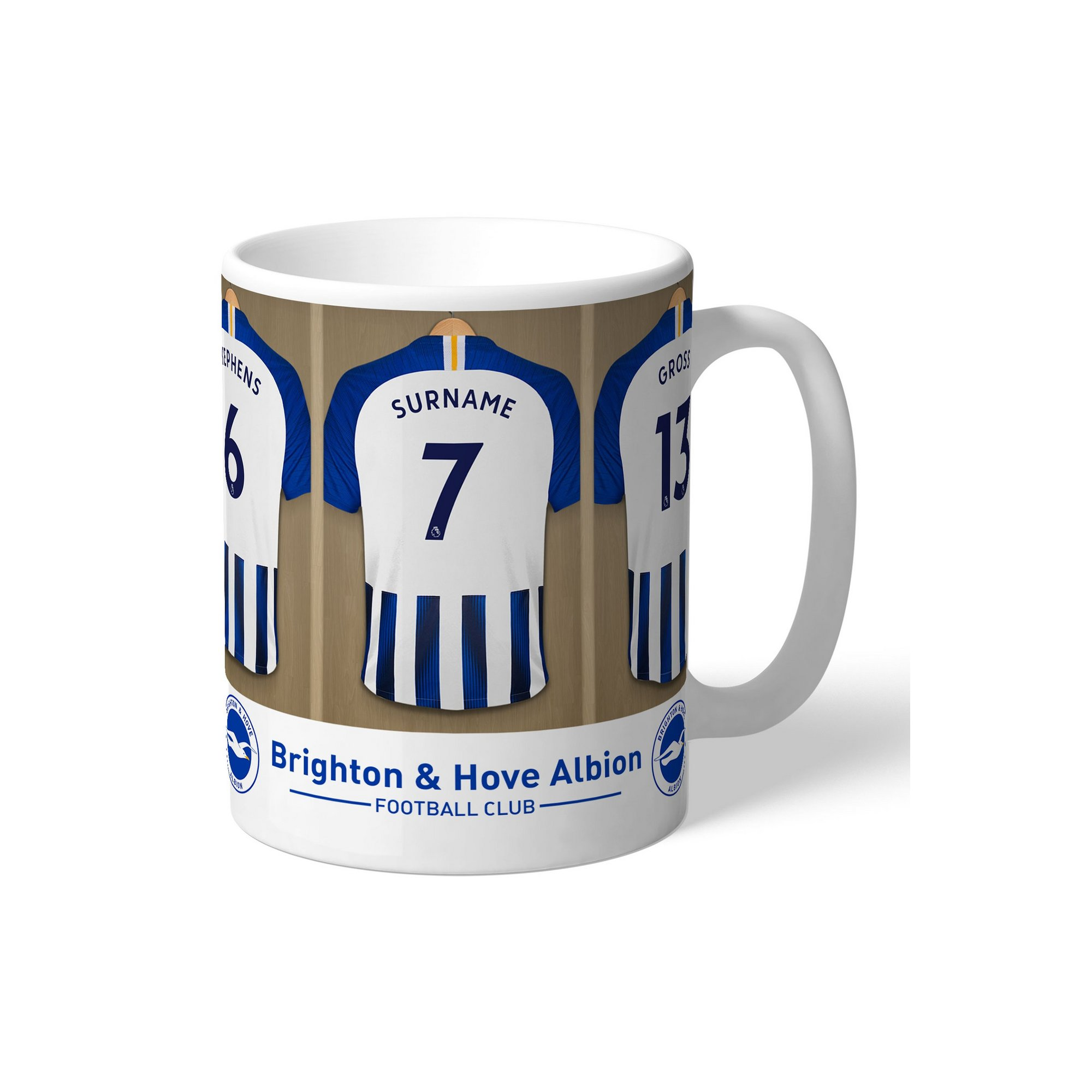 Image of Personalised Brighton and Hove Albion FC Dressing Room Mug