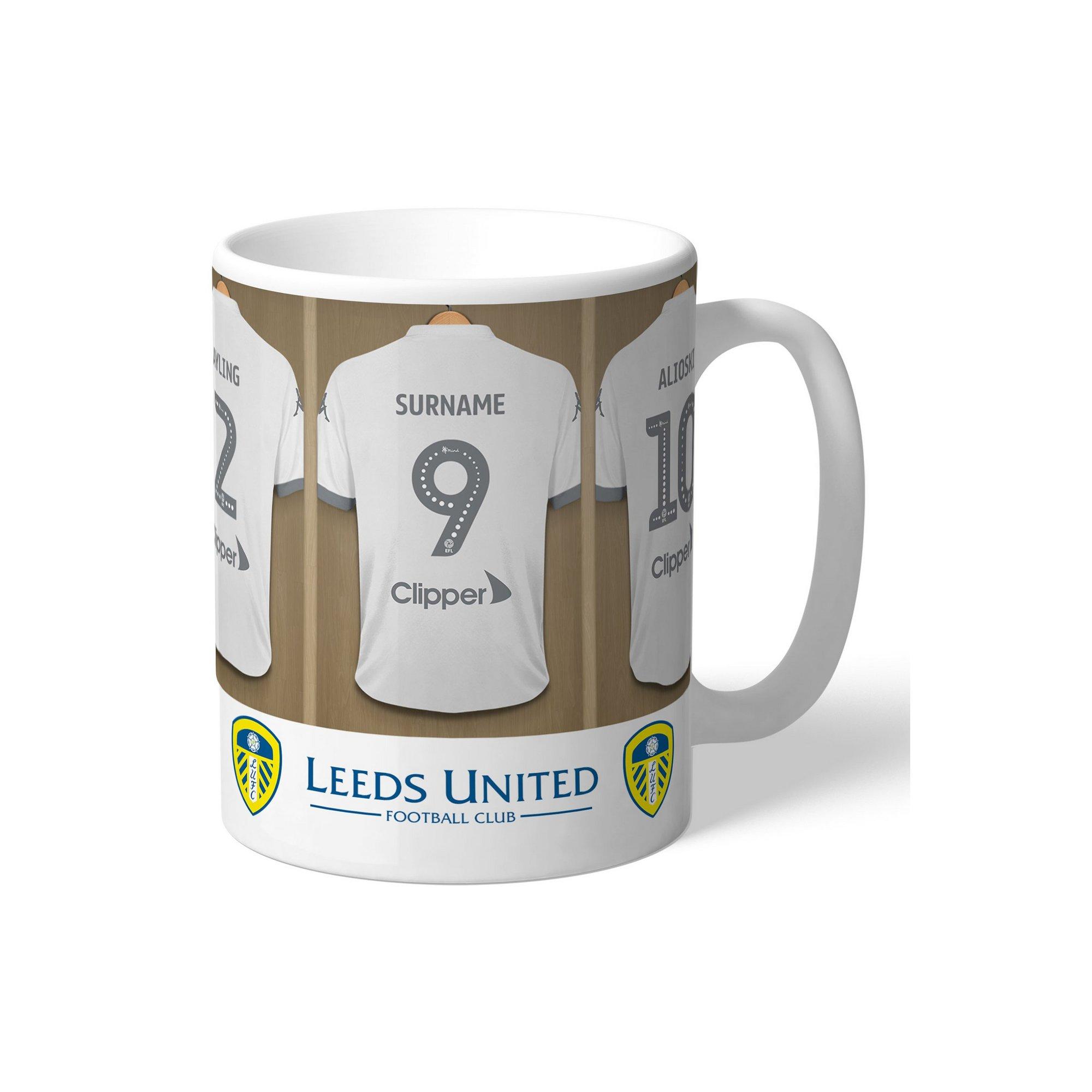 Image of Personalised Leeds United FC Dressing Room Mug