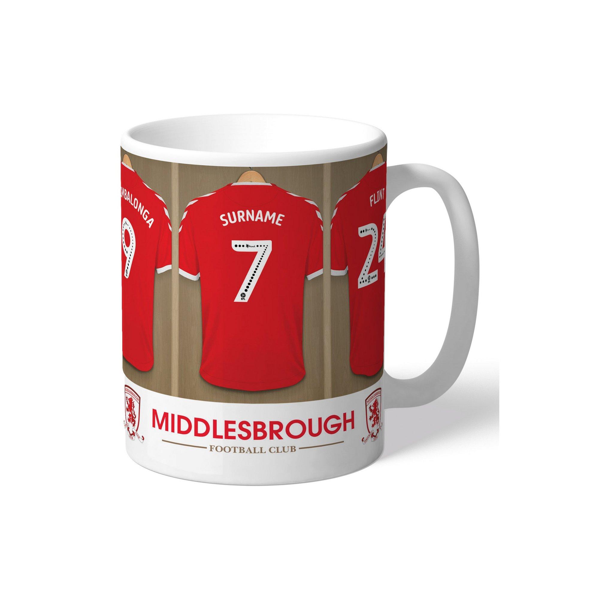 Image of Personalised Middlesbrough FC Dressing Room Mug