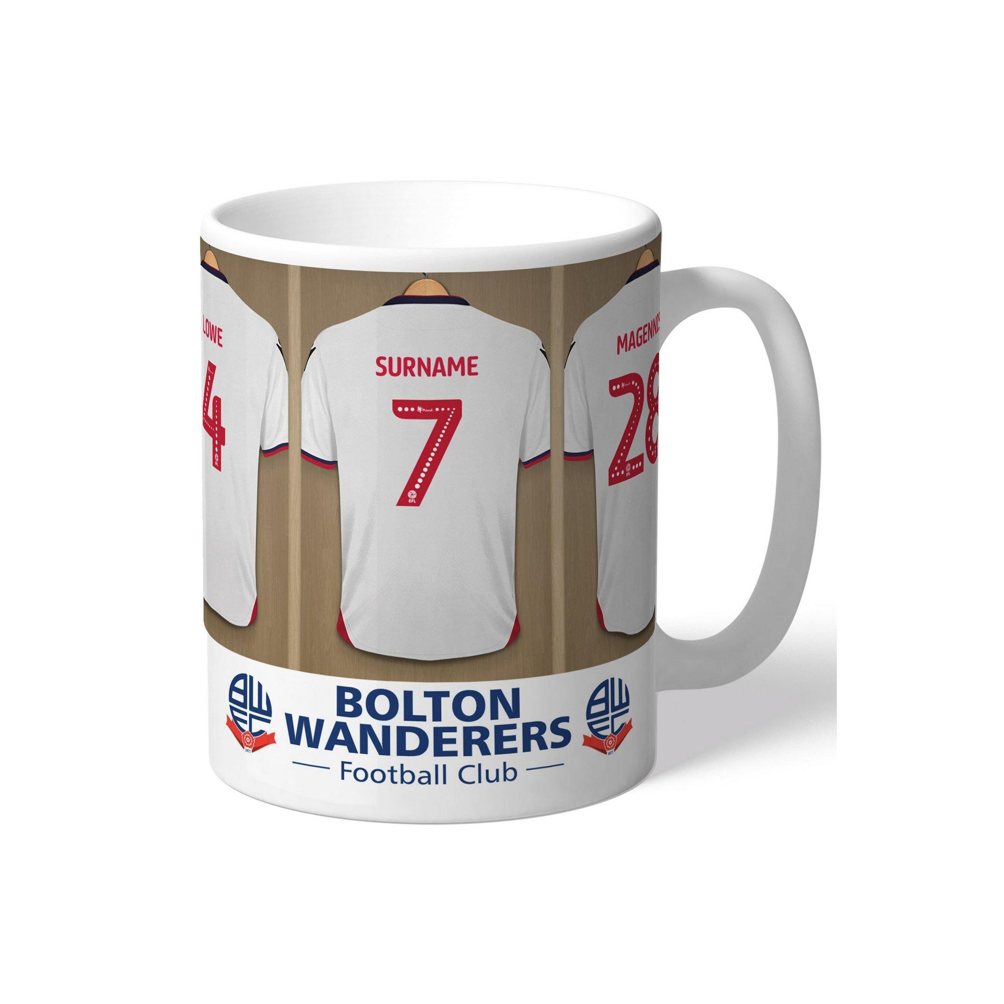 Image of Personalised Bolton Wanderers FC Dressing Room Mug