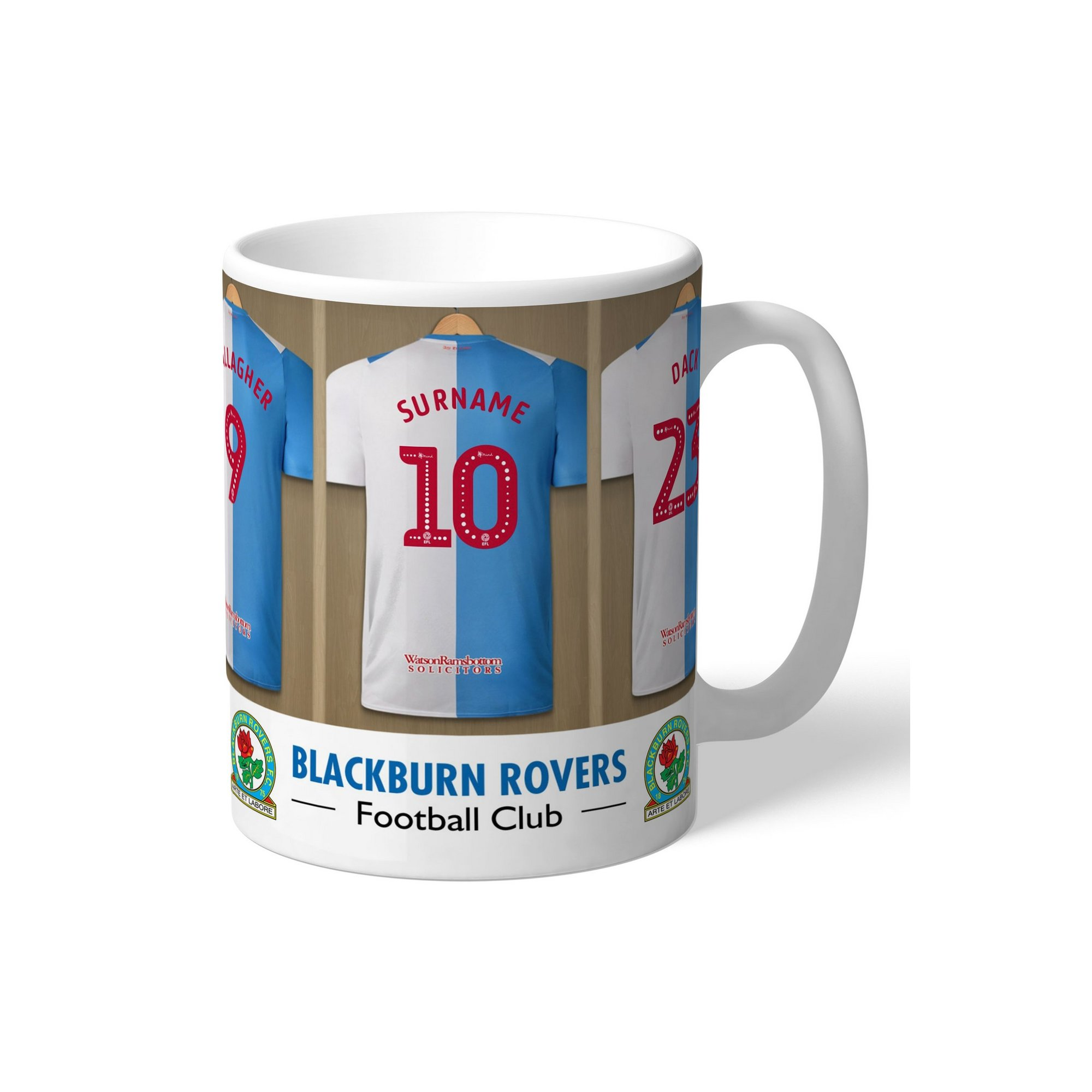 Image of Personalised Blackburn Rovers FC Dressing Room Mug