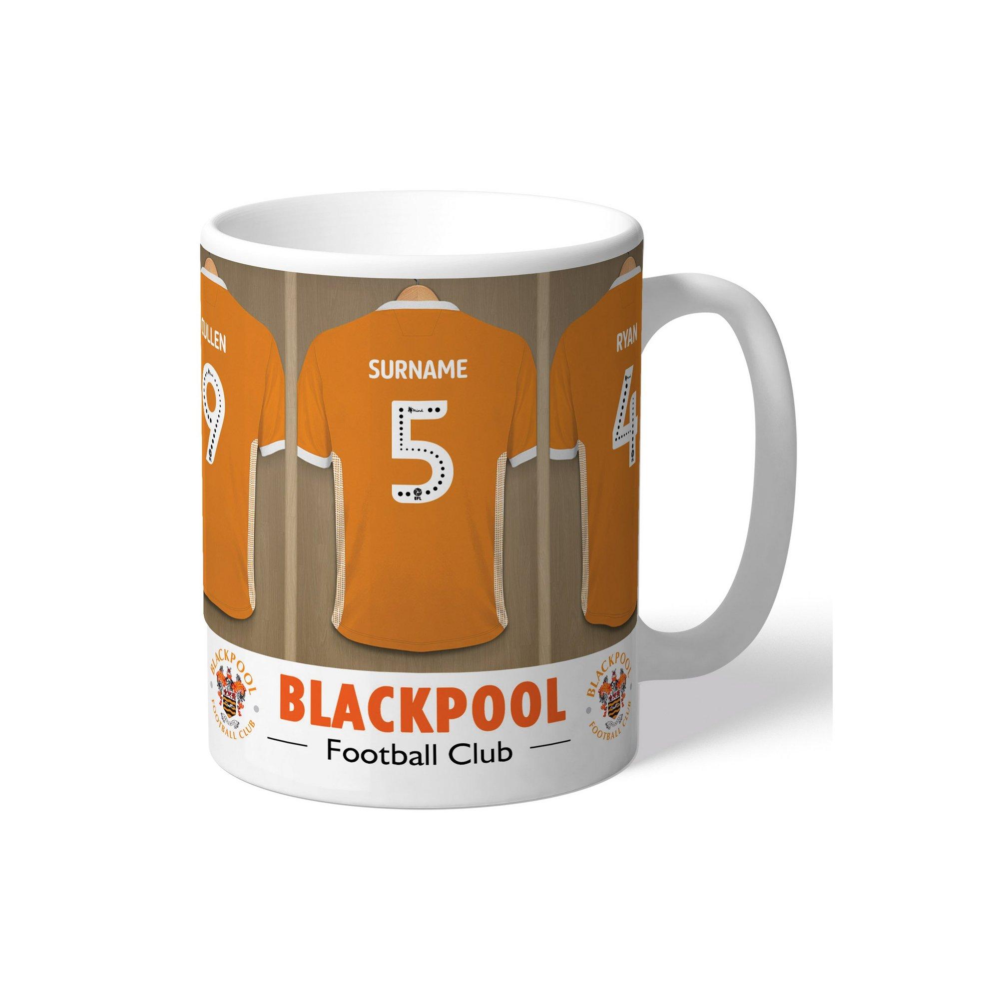 Image of Personalised Blackpool FC Dressing Room Mug