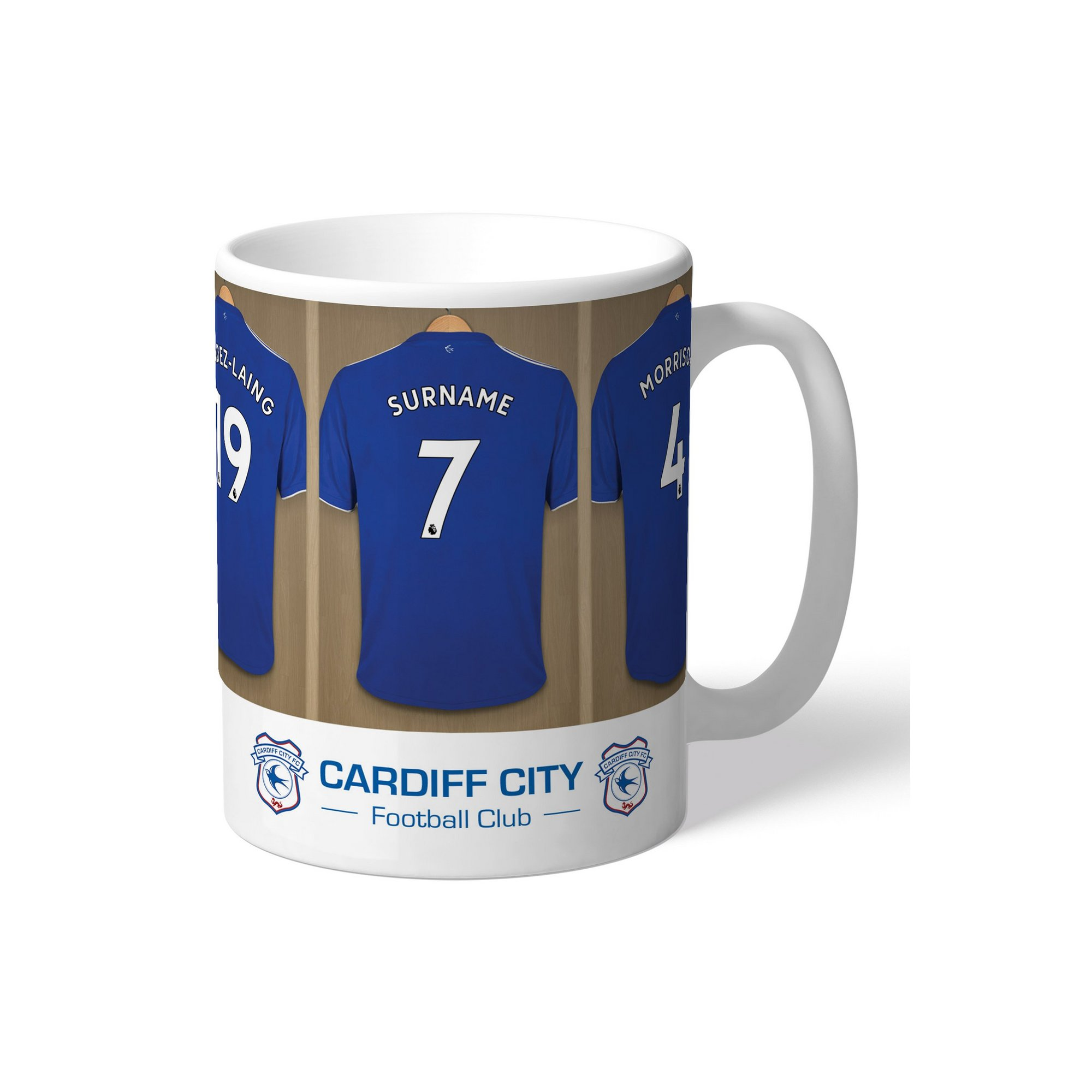 Image of Personalised Cardiff City Dressing Room Mug