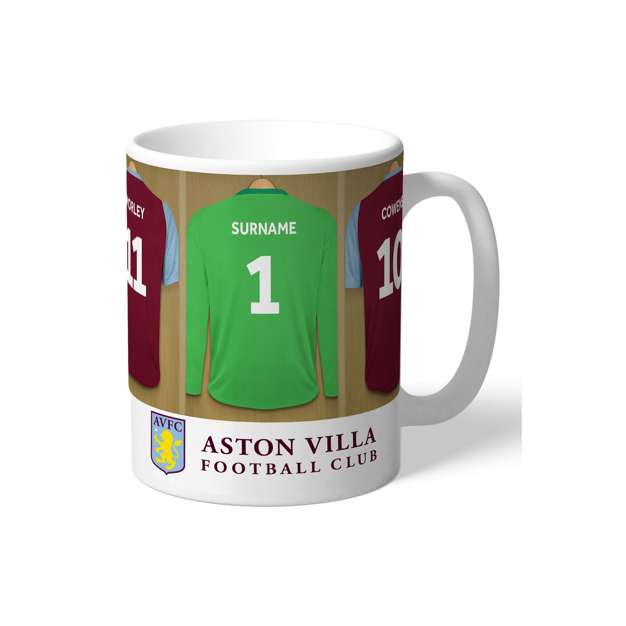 Image of Personalised Aston Villa FC Legends Goalkeeper Dressing Room Mug