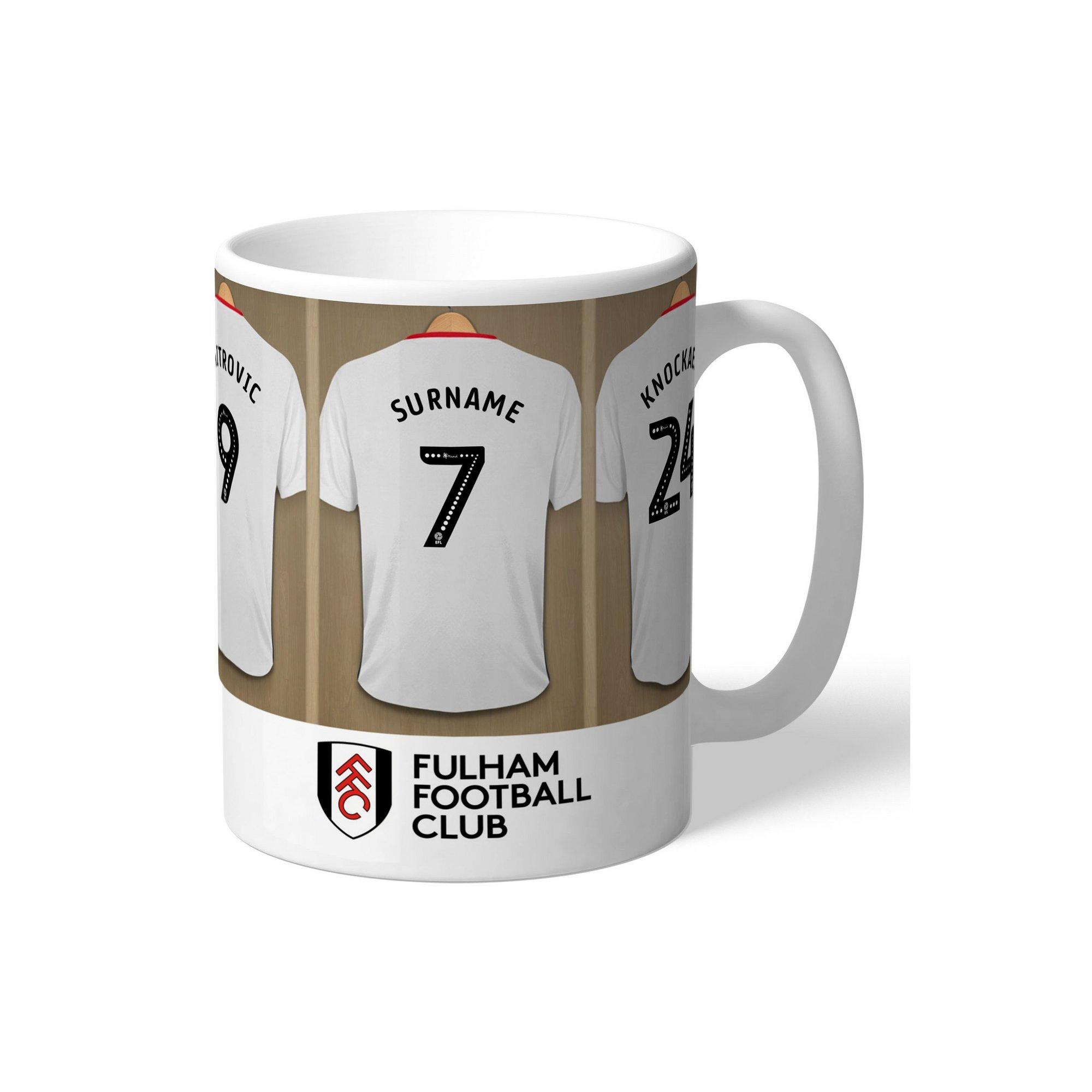 Image of Personalised Fulham FC Dressing Room Mug