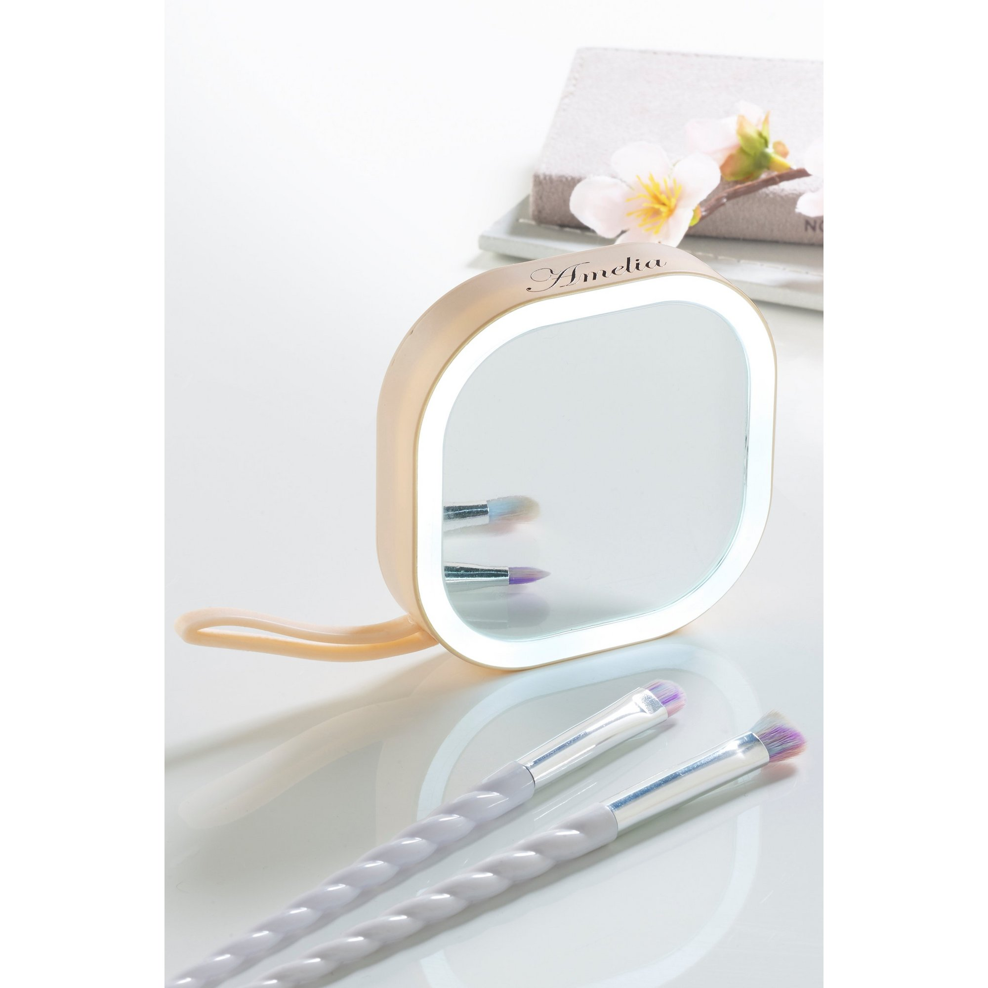 Image of Personalised Light-Up Compact Mirror