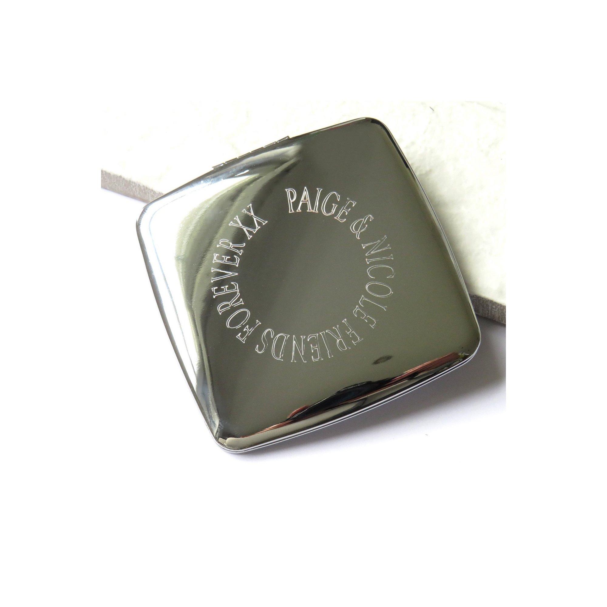 Image of Personalised Edge Square Handbag Mirror