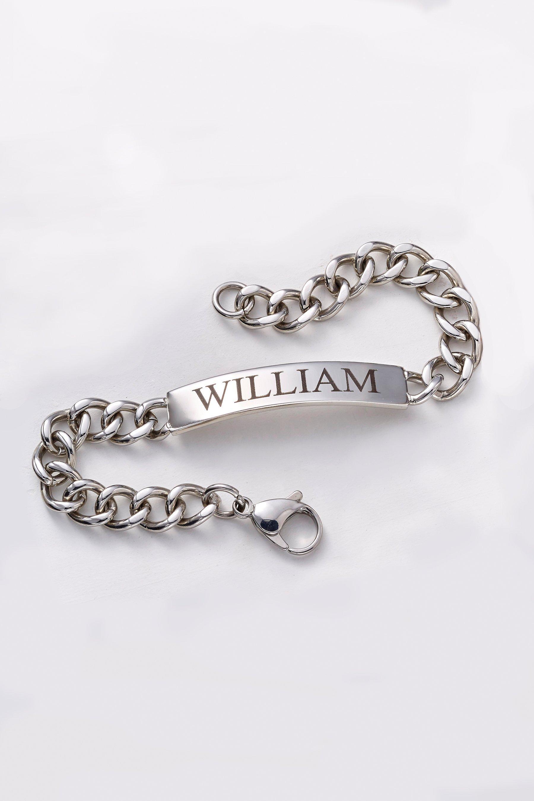 personalised stainless steel 8 1/2 inch bracelet