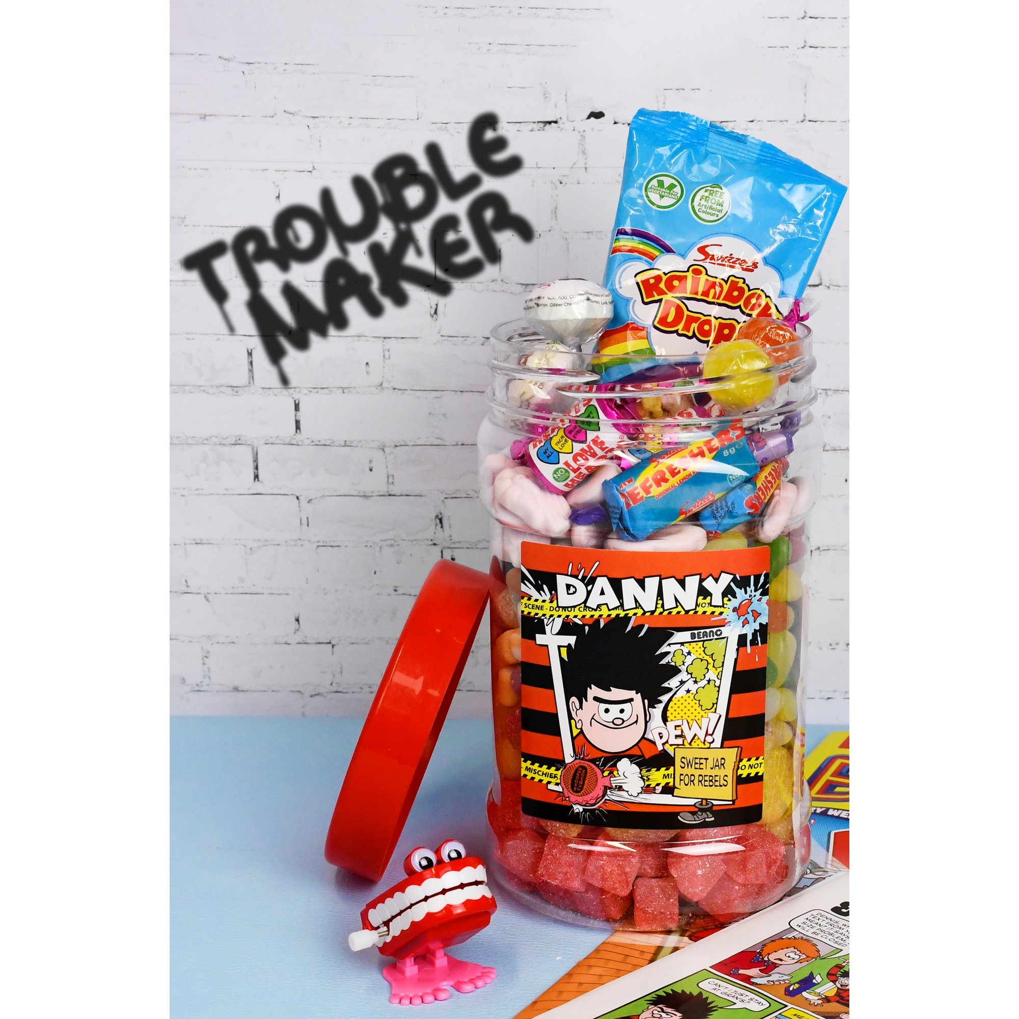 Image of Personalised Beano Retro Sweets Jar