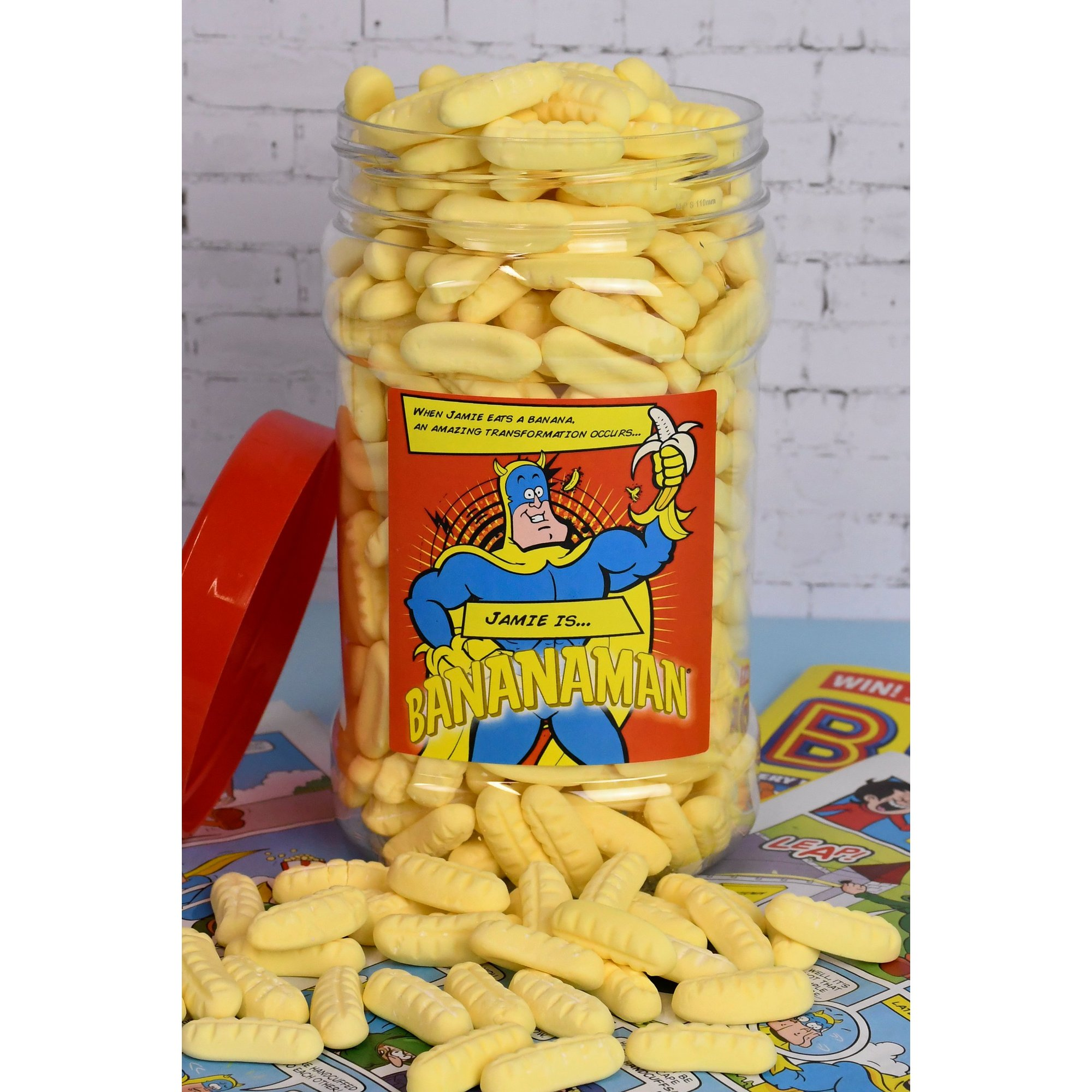 Image of Personalised Bananaman Sweet Jar