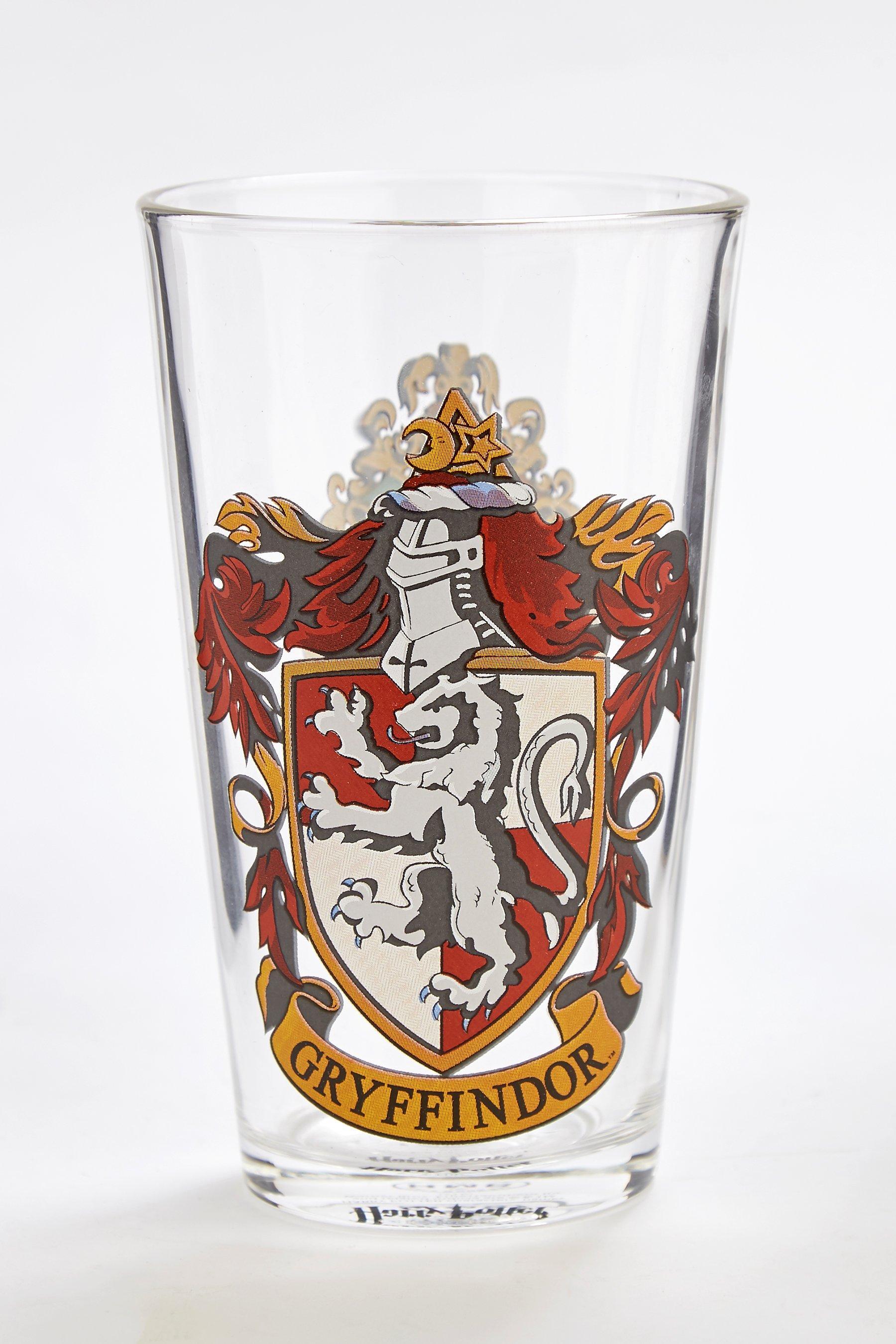 HARRY POTTER LARGE GLASS Hogwarts Crest
