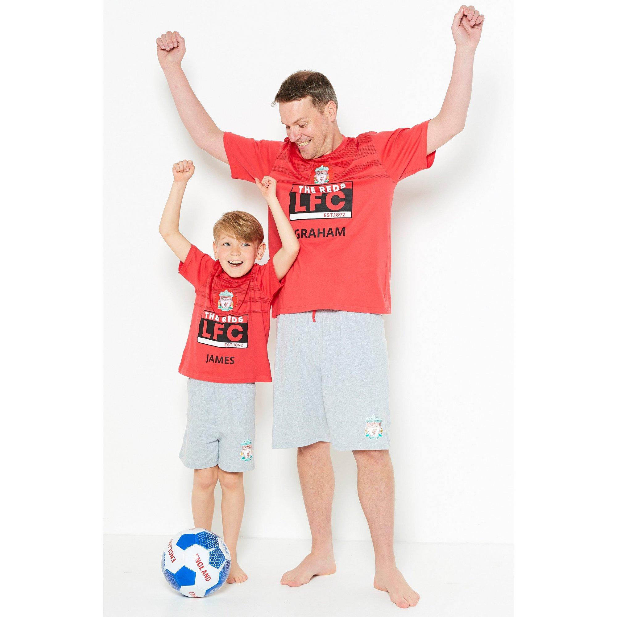 Image of Boys Mini Me Personalised Liverpool Short Pyjamas