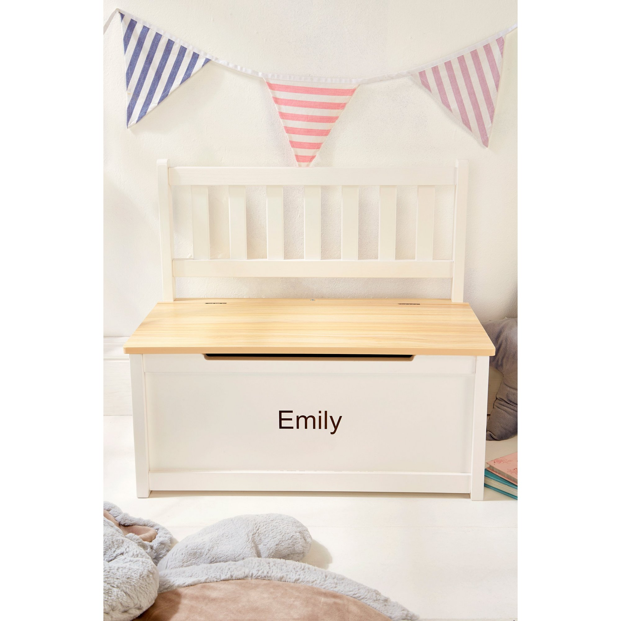 Image of Personalised Kids Bench with Storage