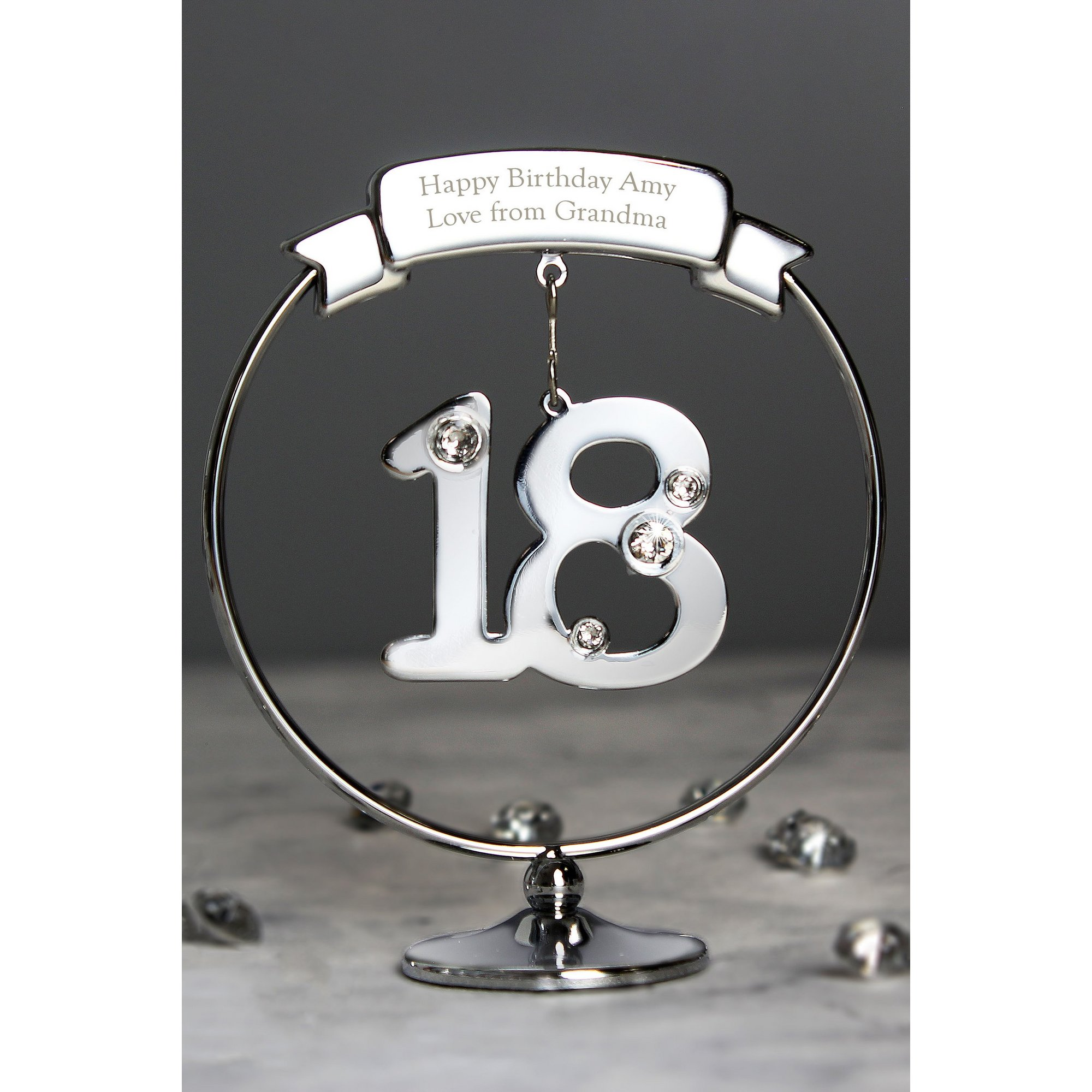 Image of Personalised Crystocraft 18th Celebration Ornament