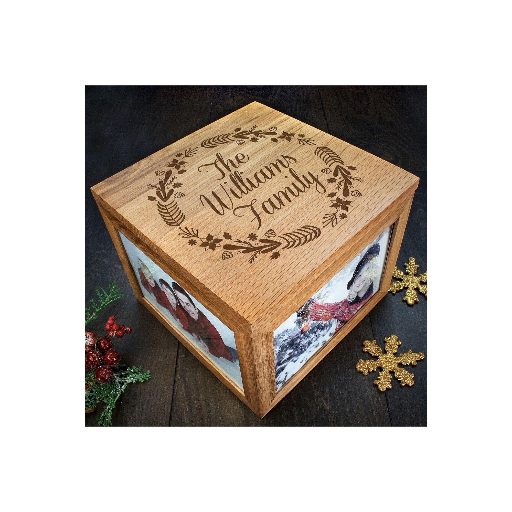 Image of Personalised Familys Christmas Memory Box