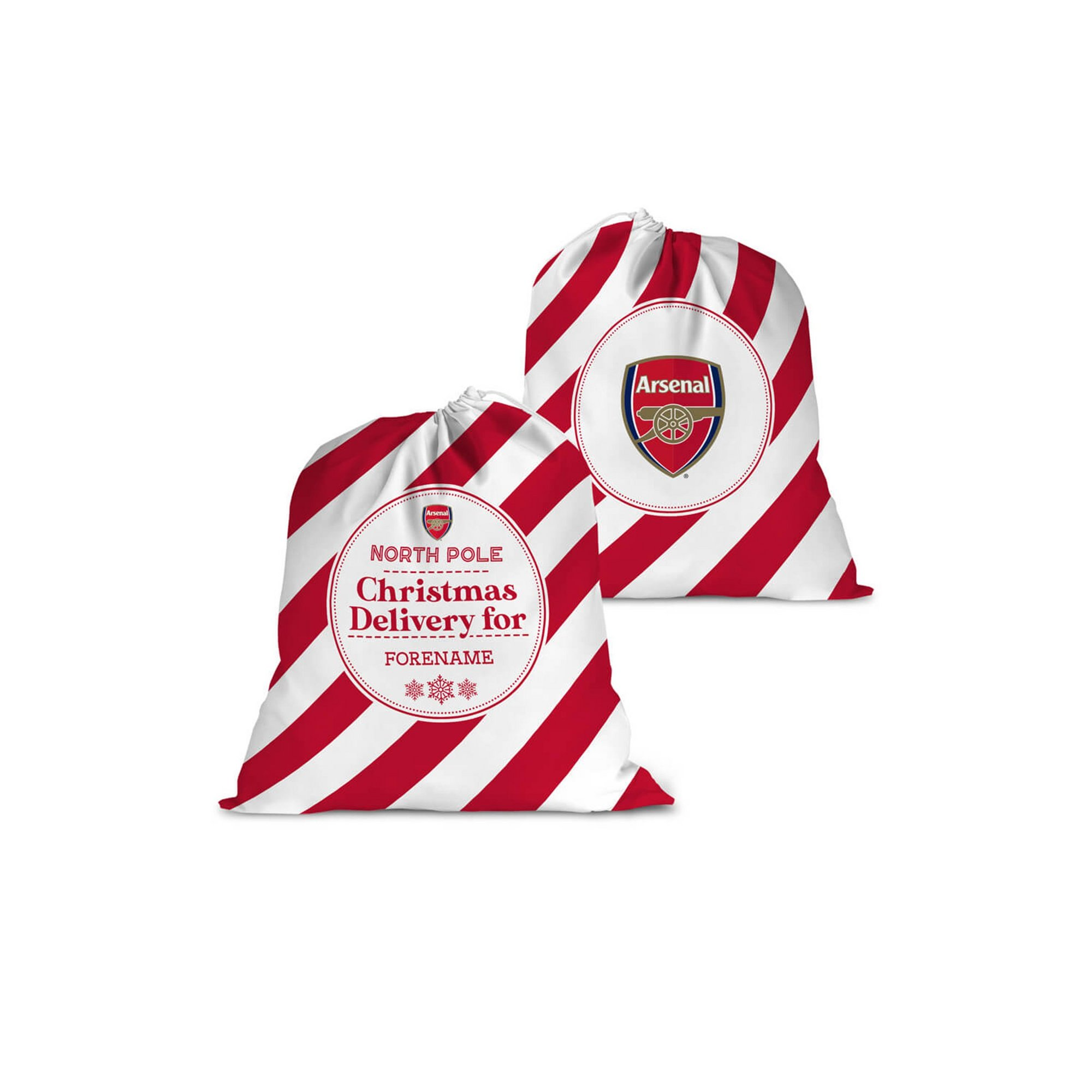 Image of Personalised Arsenal FC Christmas Delivery Santa Sack