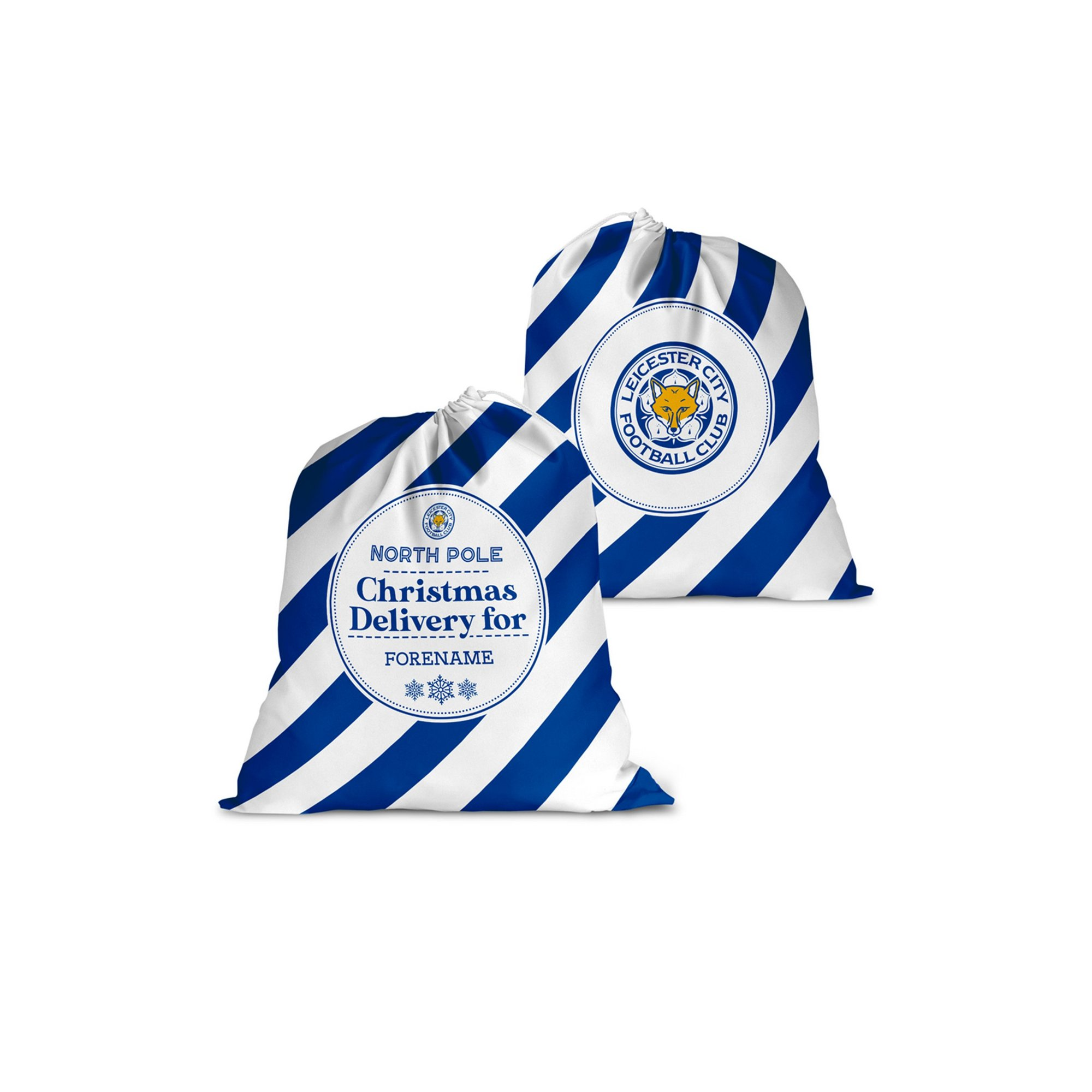 Image of Personalised Leicester City FC Christmas Delivery Santa Sack