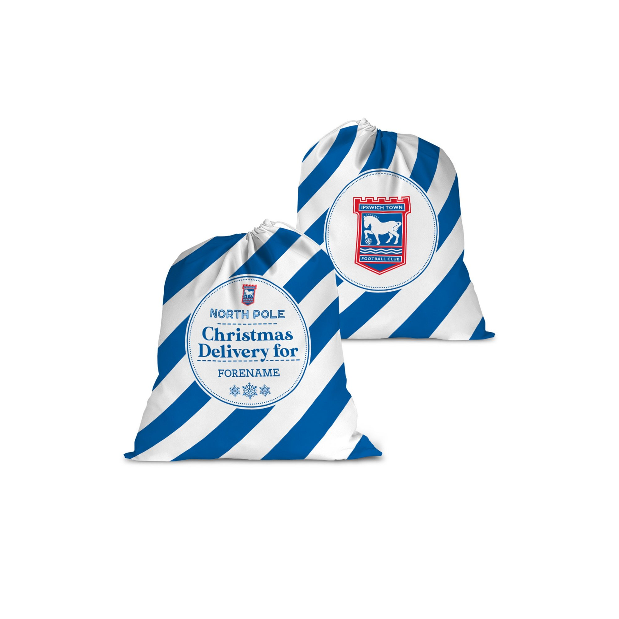 Image of Personalised Ipswich Town FC Christmas Delivery Santa Sack
