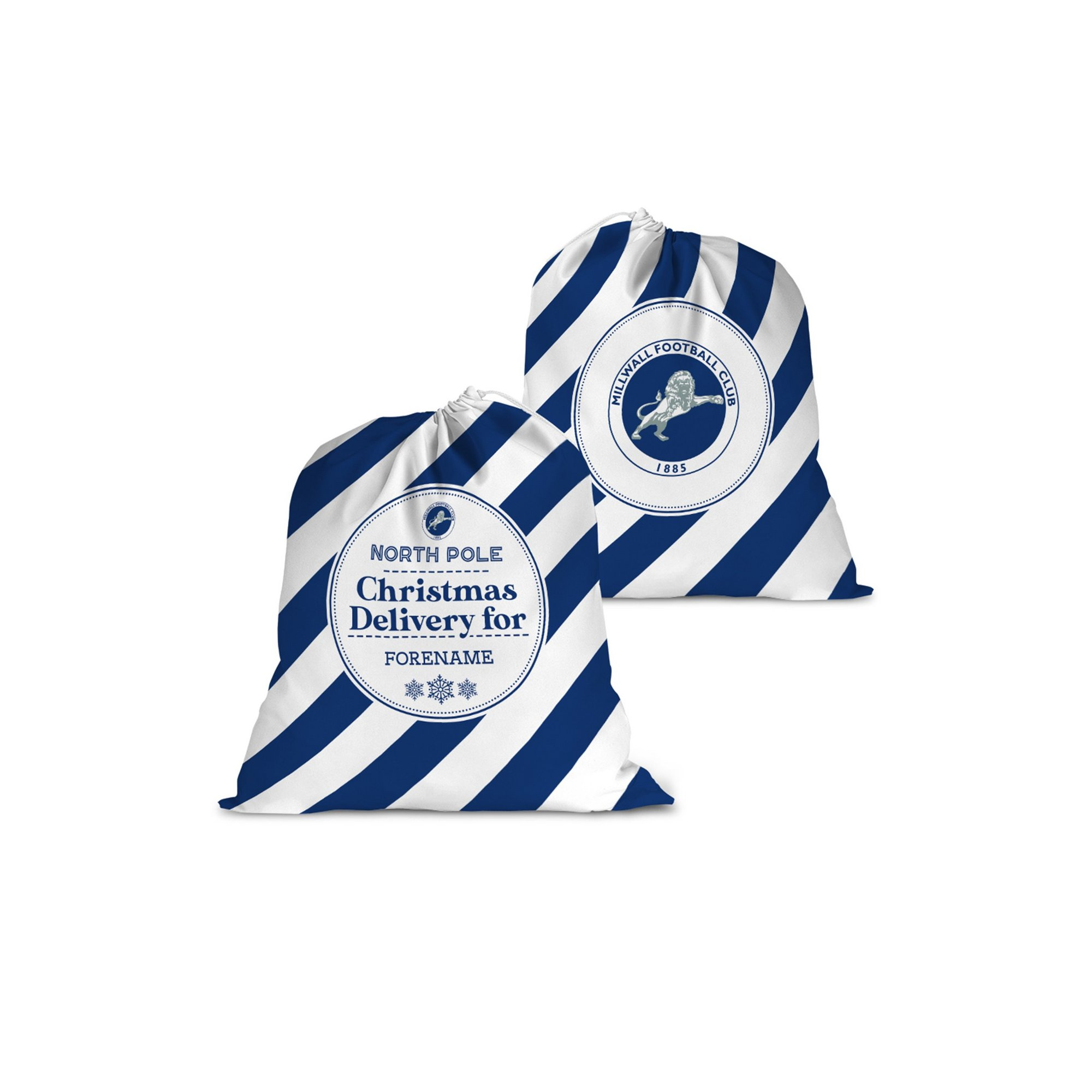 Image of Personalised Millwall FC Christmas Delivery Santa Sack