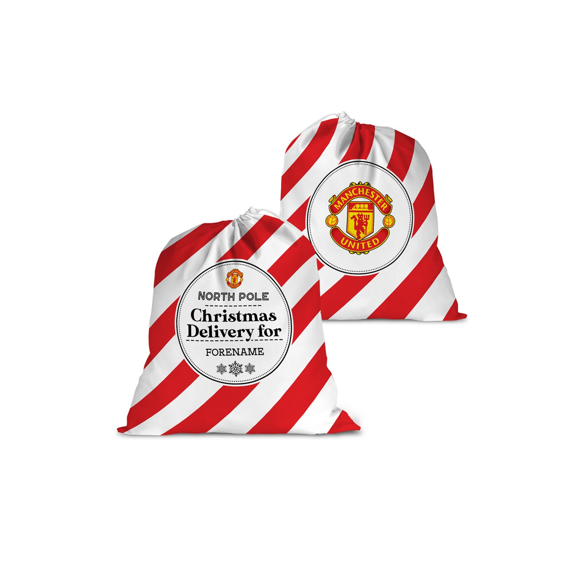 Image of Personalised Manchester United FC Christmas Delivery Santa Sack