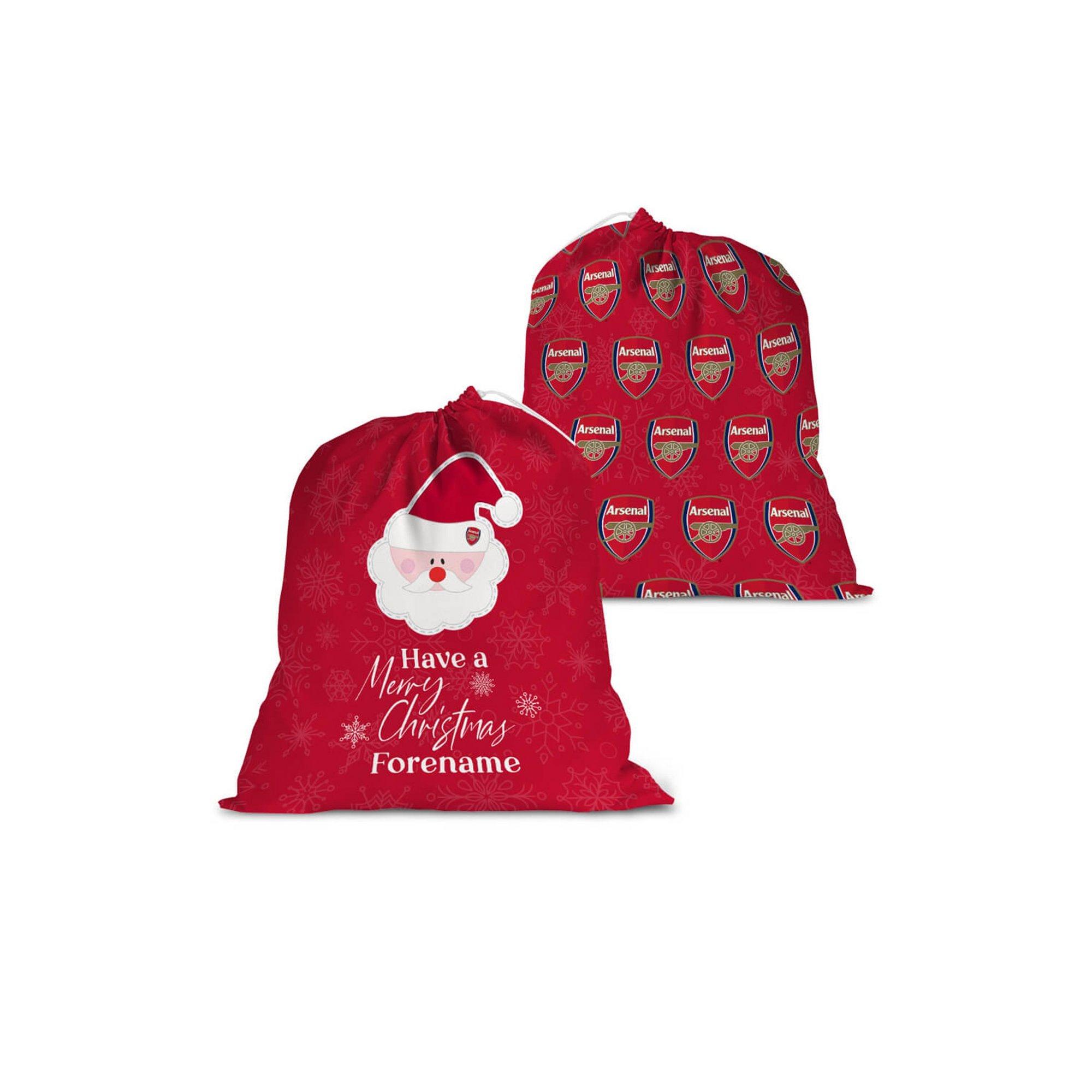 Image of Personalised Arsenal FC Merry Christmas Santa Sack