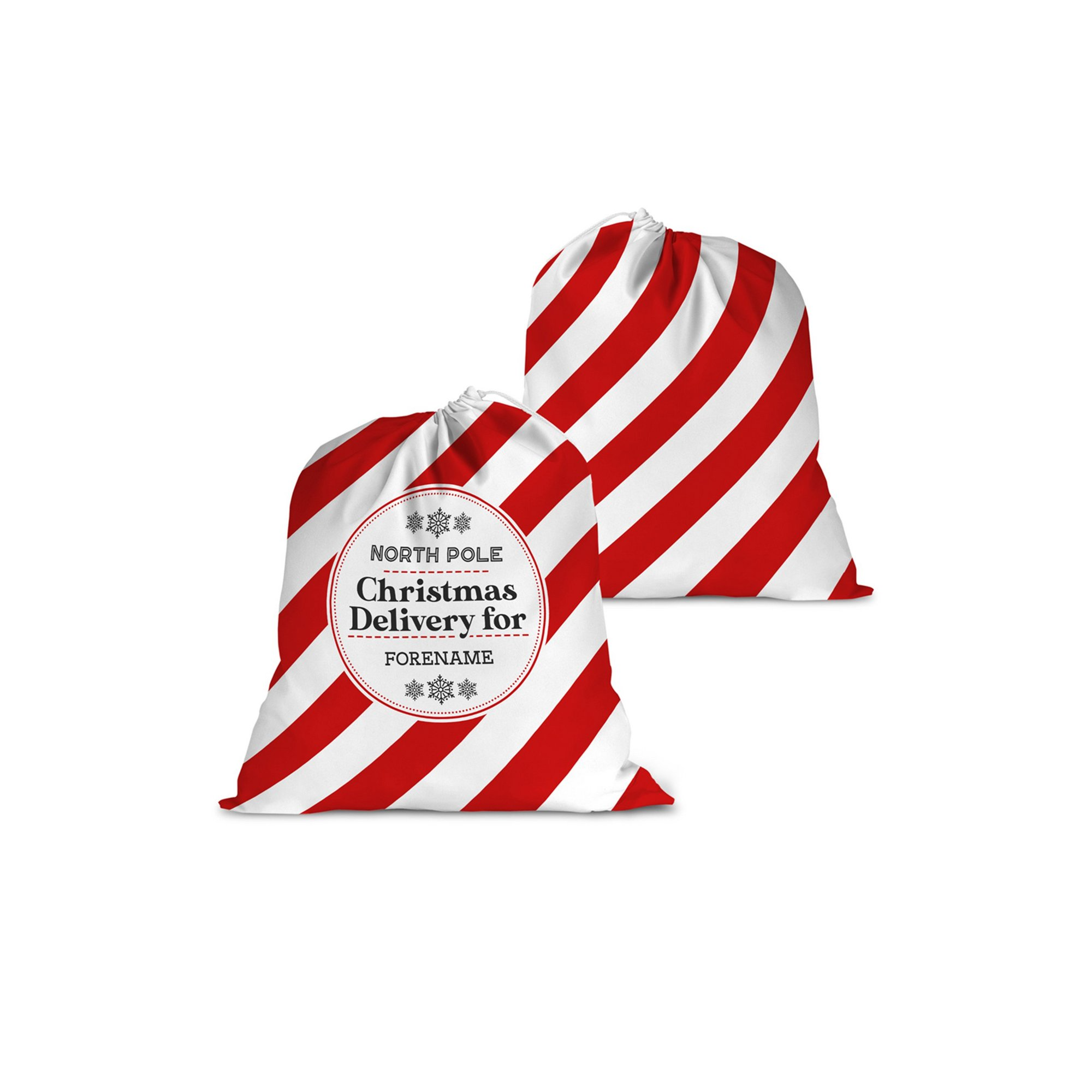 Image of Personalised Christmas Delivery Santa Sack