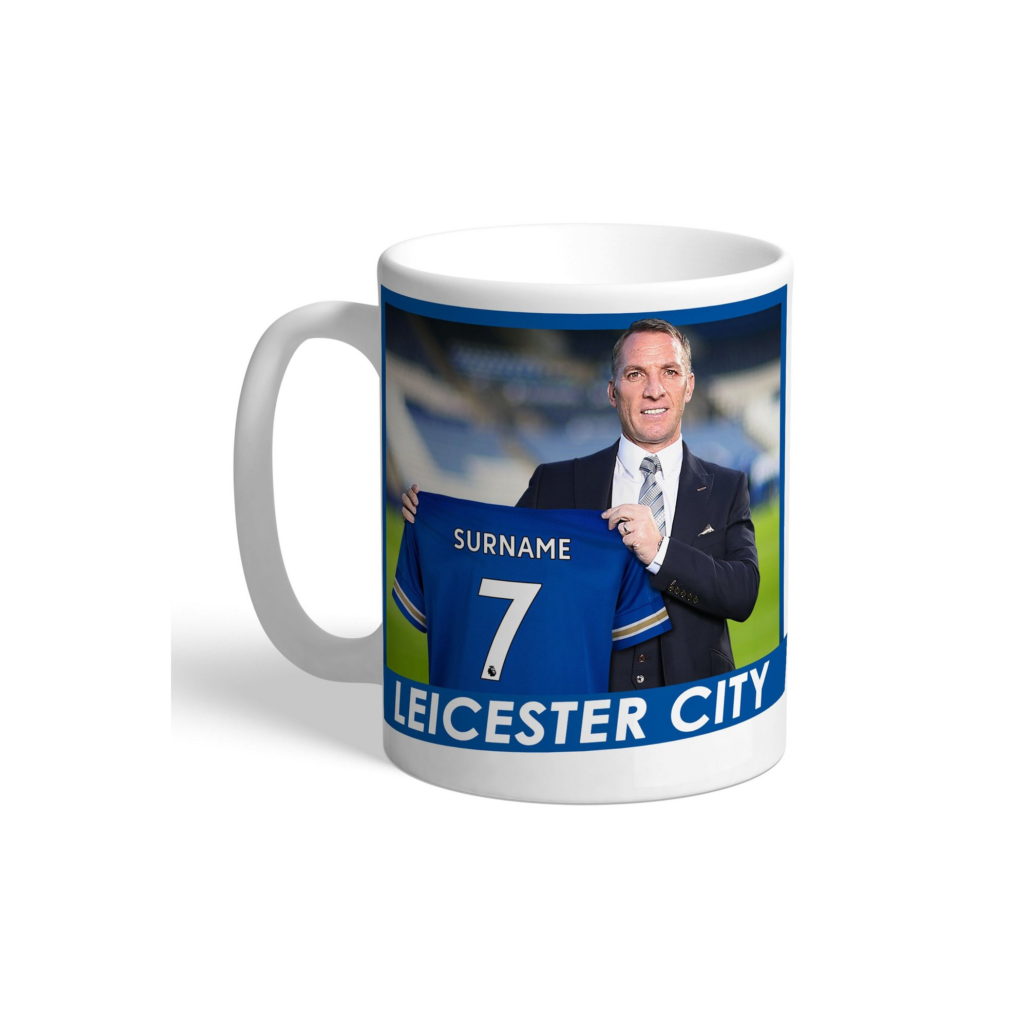 Image of Personalised Leicester City FC Manager Mug