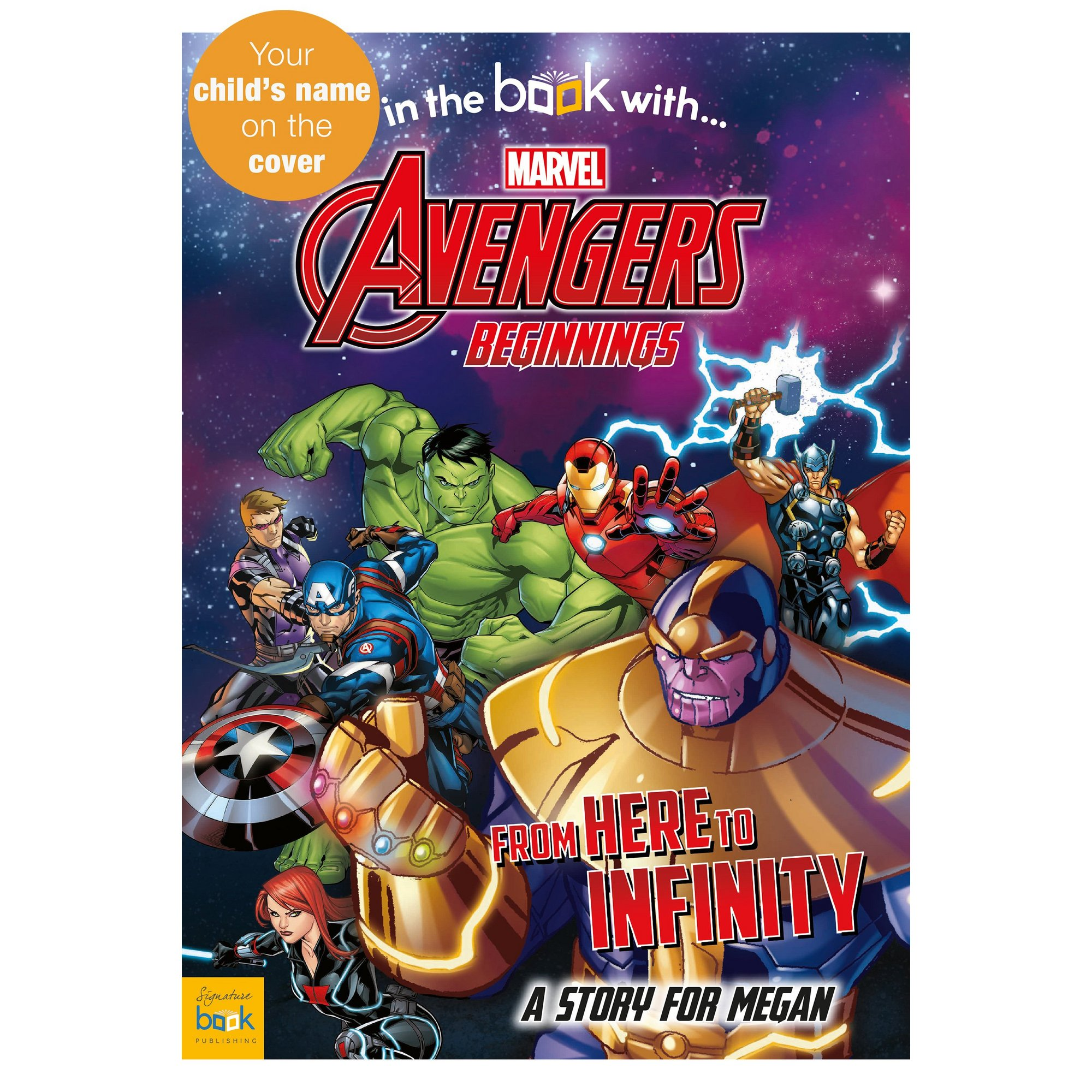 Image of Personalised Avengers Beginnings - Softback Book